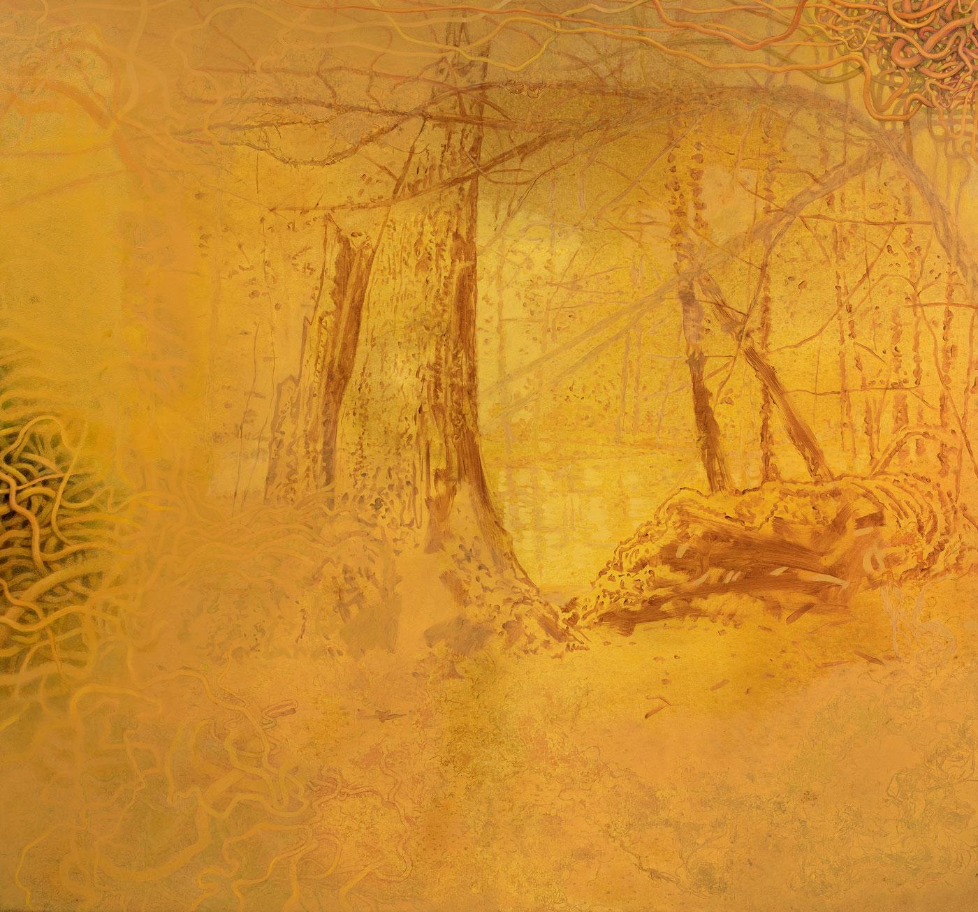Džungle 4, 2014-18, akryl a olej na plátně, 150X160