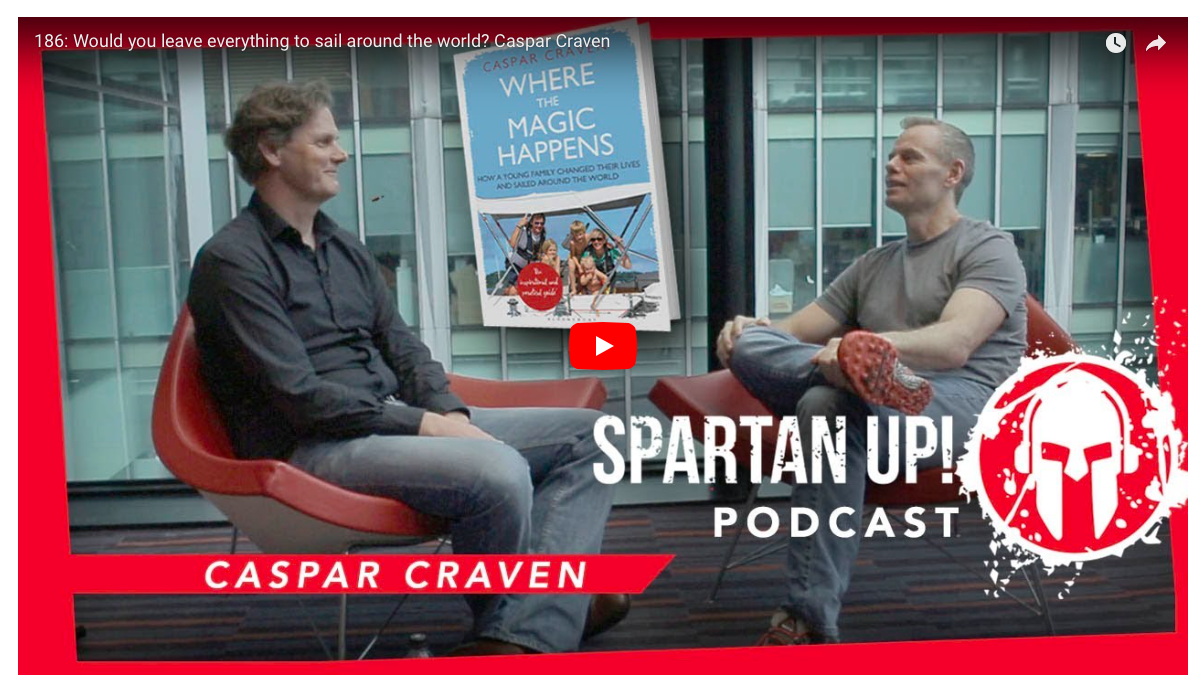 Caspar is featured on the Spartan.com podcast interview by Joe De Sena. Joe's previous guests have included Richard Branson, Gary Vaynerchuk and Tim Ferriss amongst others. To watch/ listen to the  full podcast interview go here.