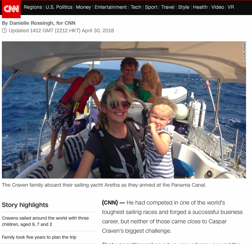 Caspar profiled on the home page of CNN.com .