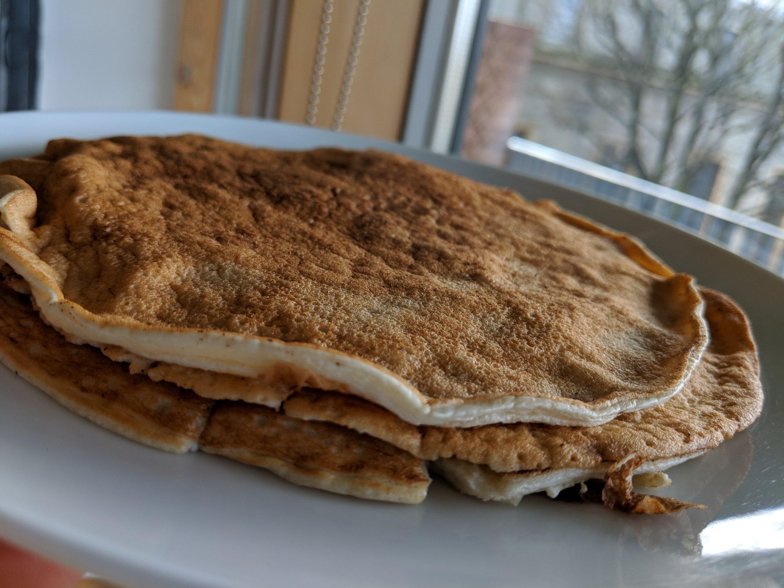 Lighter Protein Pancake Recipe Variation (1 Serving)