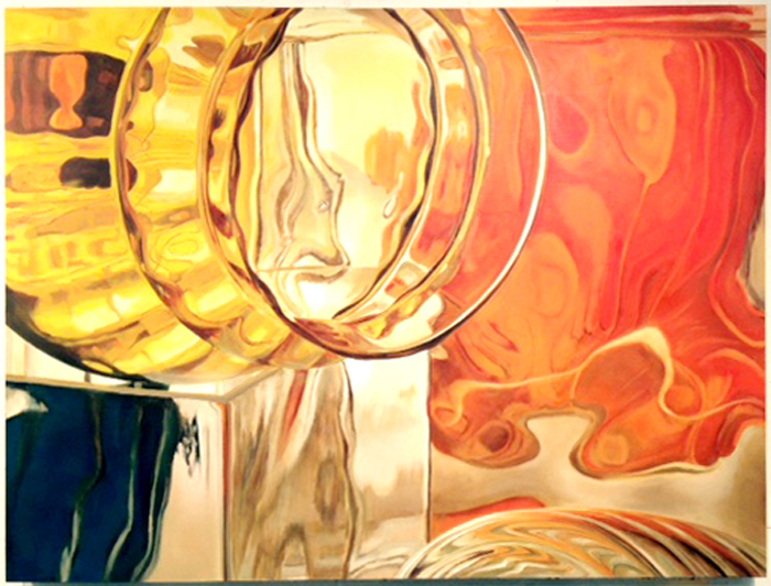 Glass Brick Series: Orange, Yellow, Blue