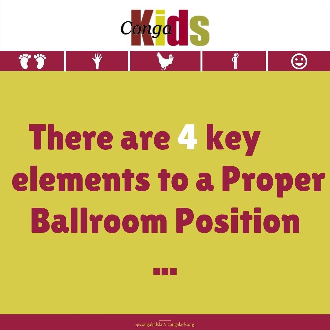 Conga Kids Ballroom Position 1