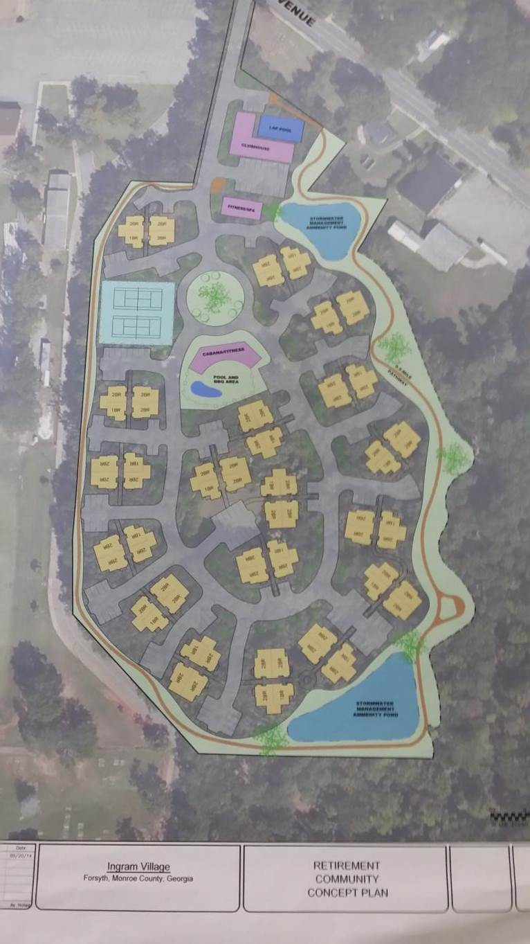 Preliminary Site Plan for Gated Senior Community.