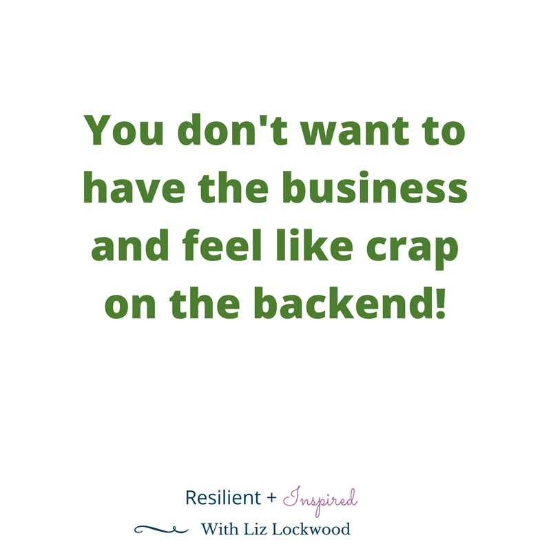 Have the business and feel like crap on the backend.png
