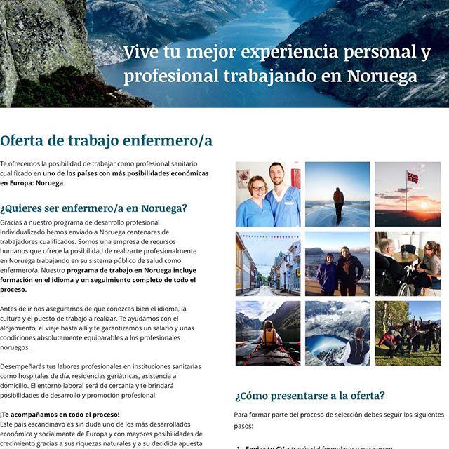 Eres enfermer@? Proxima seleccion 25 de febrero#nordicid  #enfermera #enfermeria💉💊 www.nordic-house.no #noruego #enfermerosporelmundo