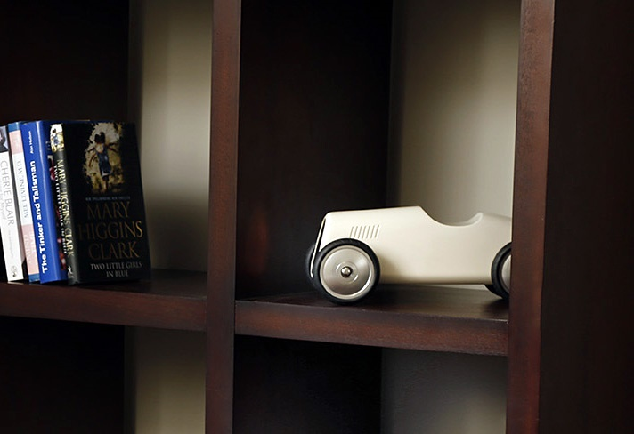 GRE Shields - bookcase display