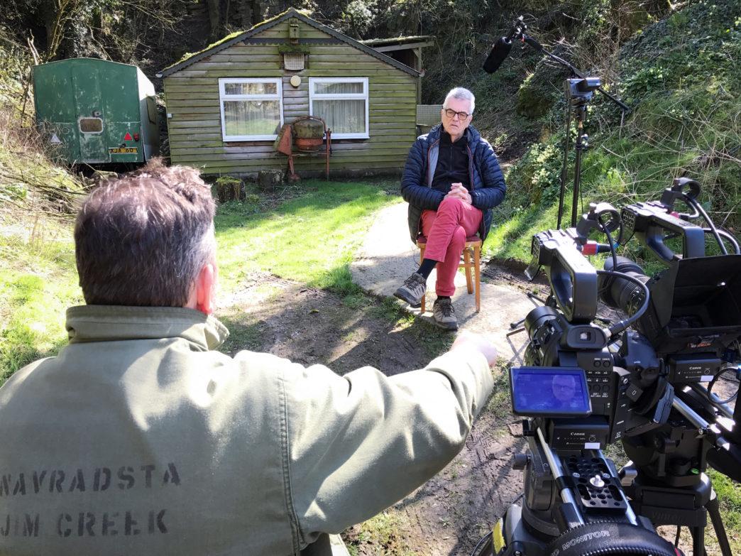Paul Hill being interviewed.  Image by Tim Pellatt