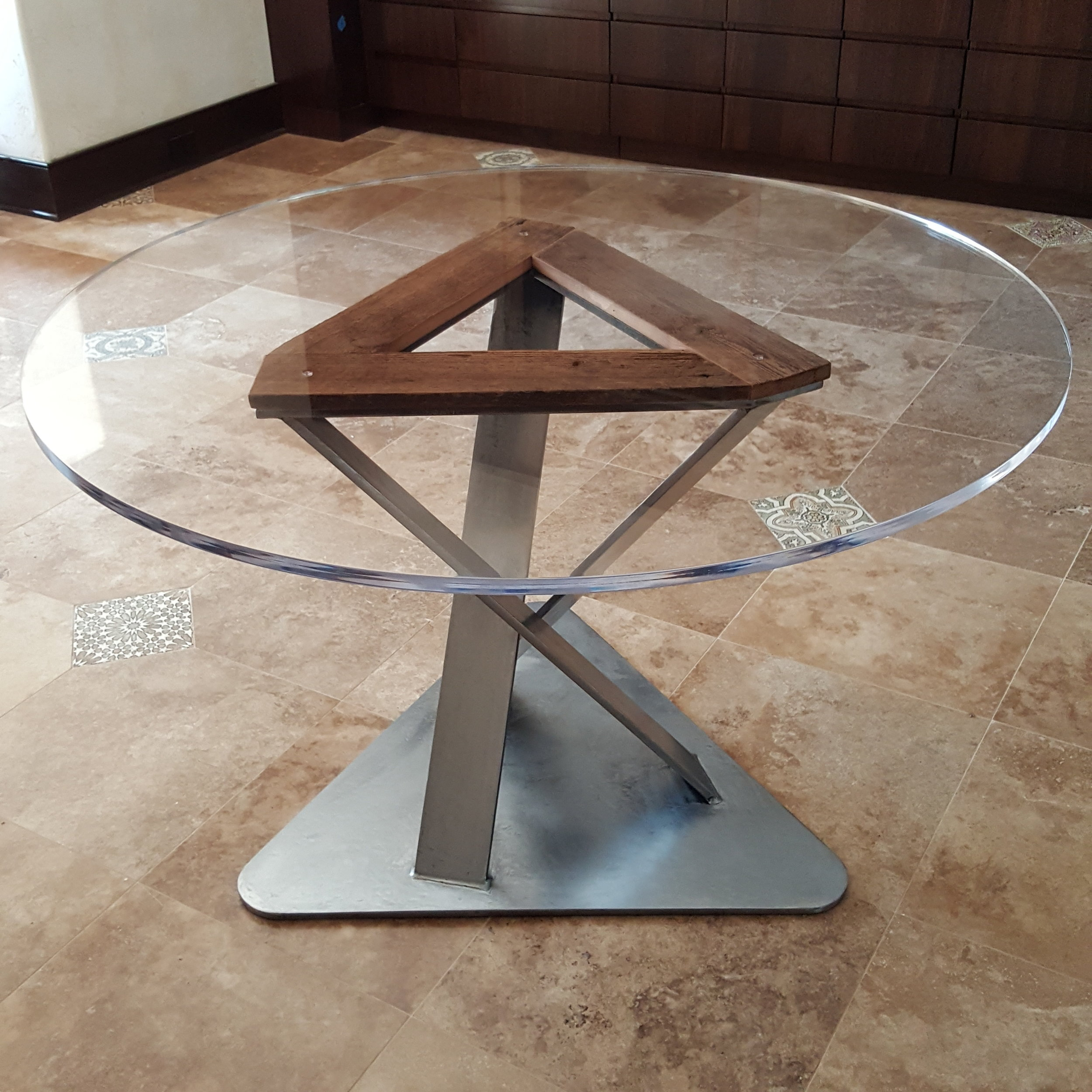 Acrylic top, barnwood accent,  dining table (2).jpg