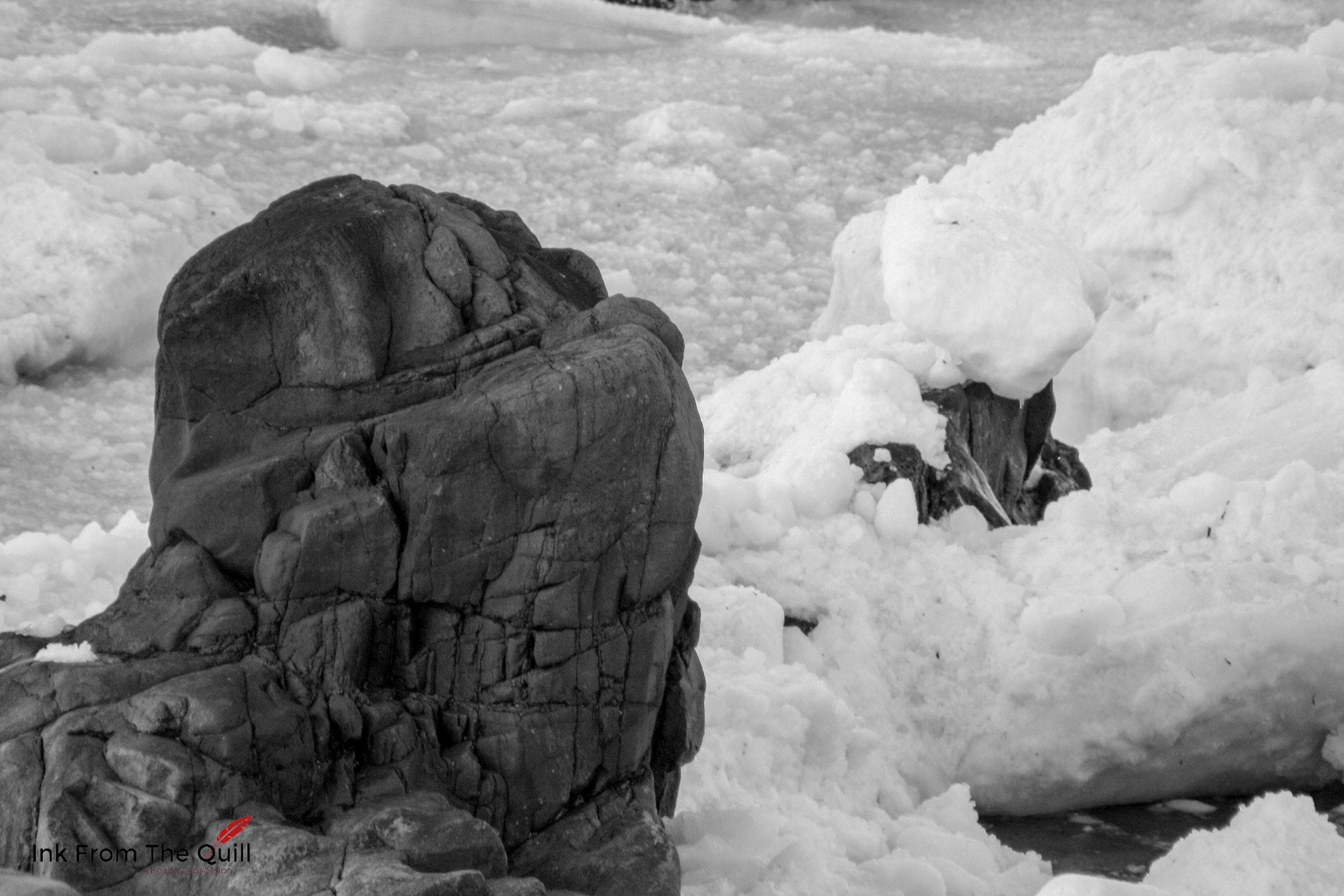 Sea ice in Blackhead, Cape Spear, Newfoundland
