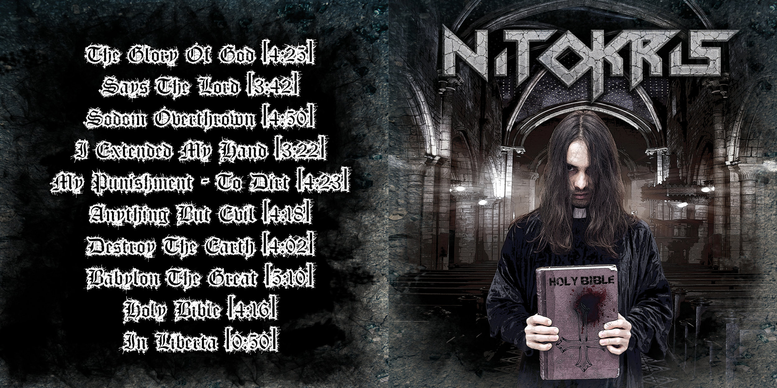 Nitokris    –     Holy Bible    (2014); cover artwork by Cesare Ferrari & Aldo Giuliano