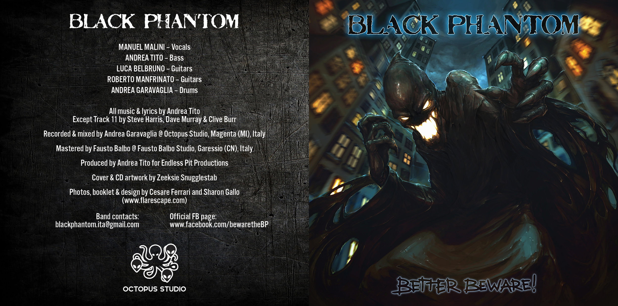 Black Phantom   –    Better Beware!    (2017); cover artwork by Zeeksie Snugglestab