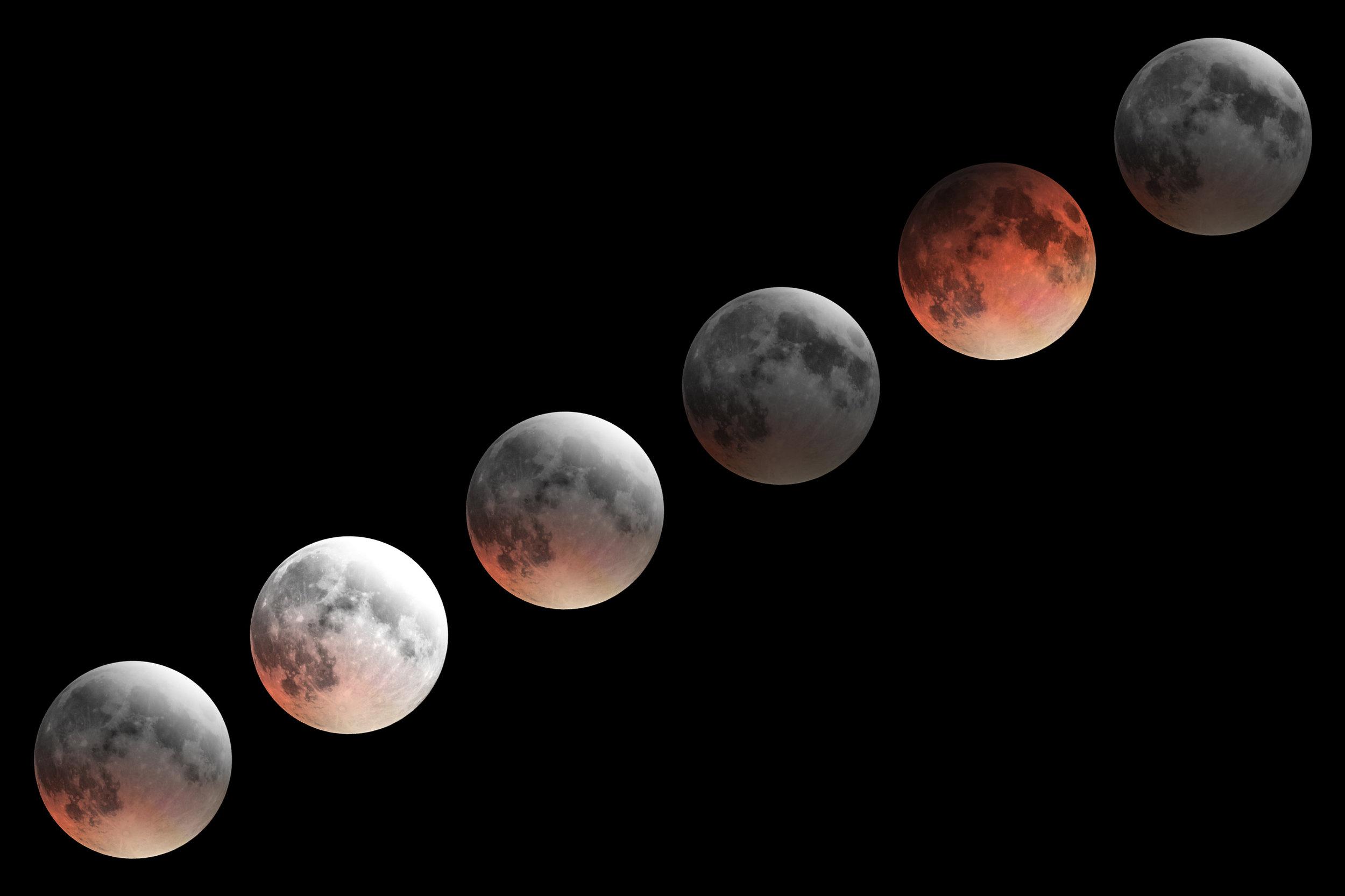 foto eclissi fasi lunari luna fotografo notte