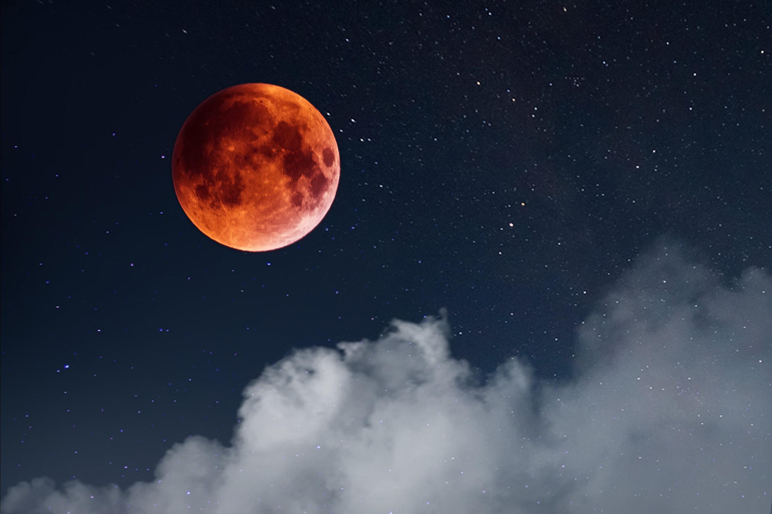 foto Luna di sangue 2018 fotografia notturna