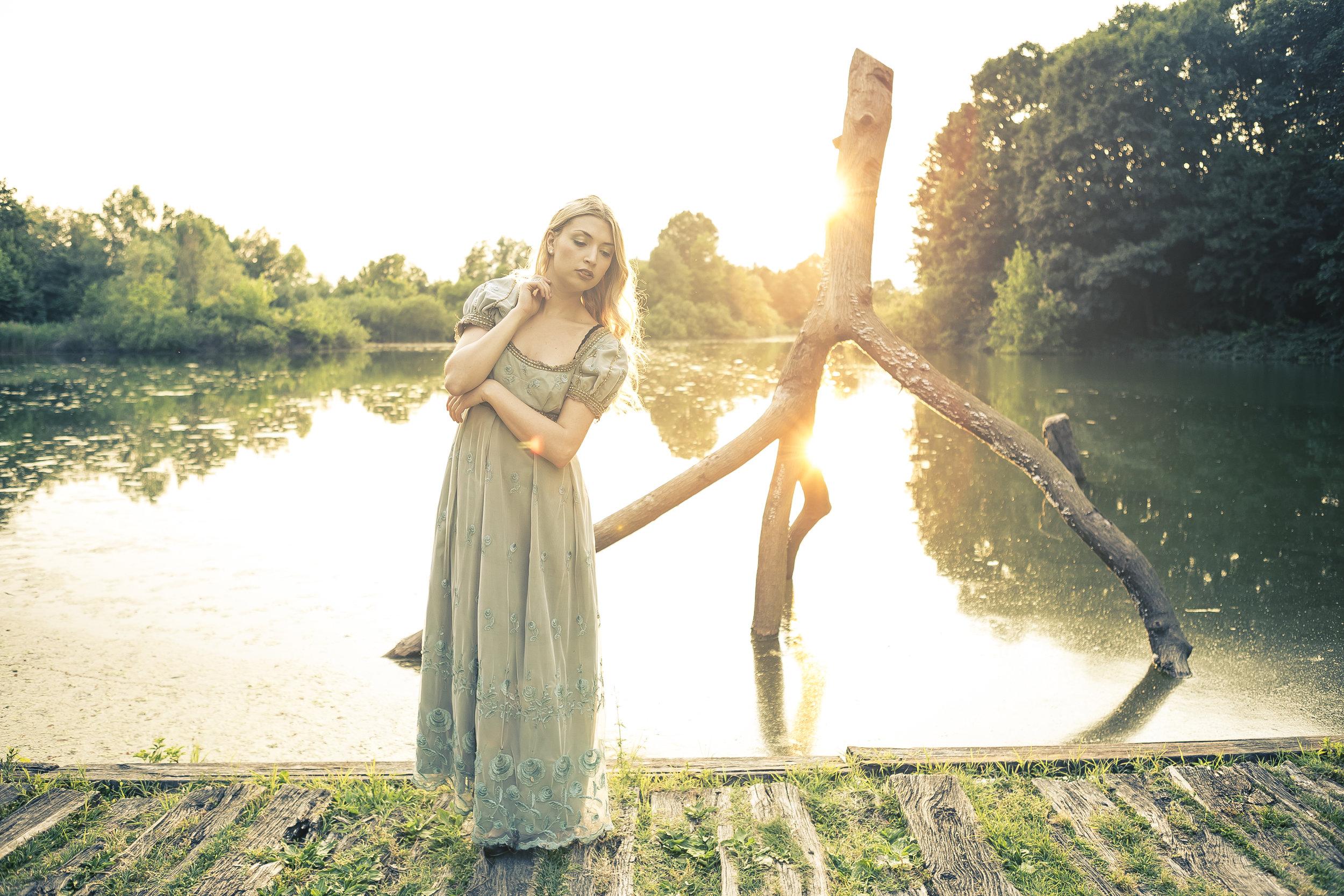 Fatina del lago fotografata