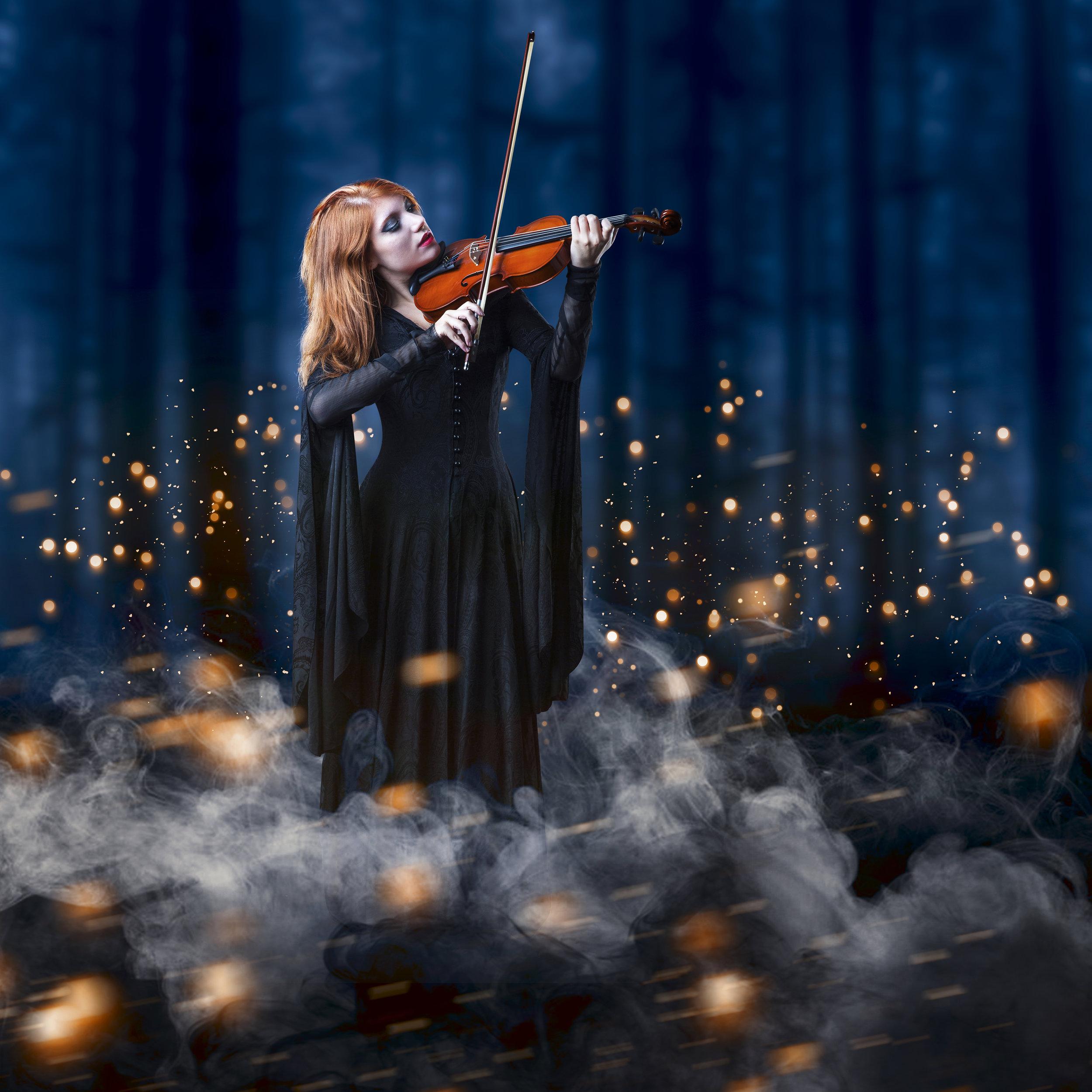 Manipolazione fantasy con una violinista