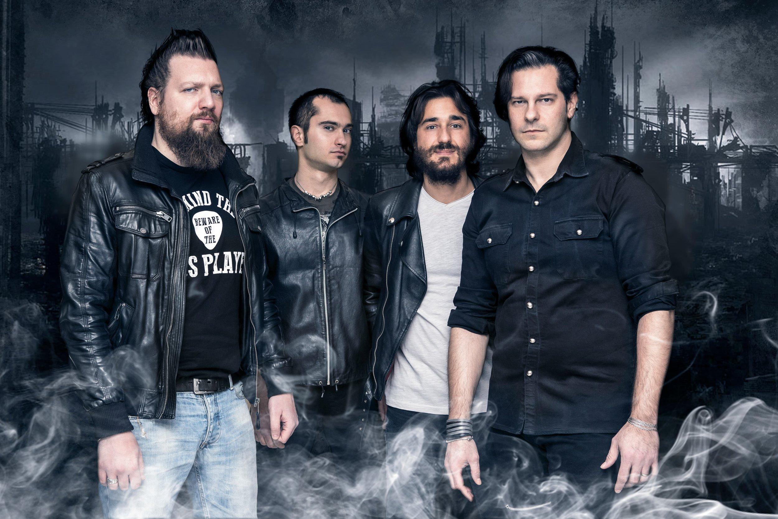 artwork compositing per heavy metal band