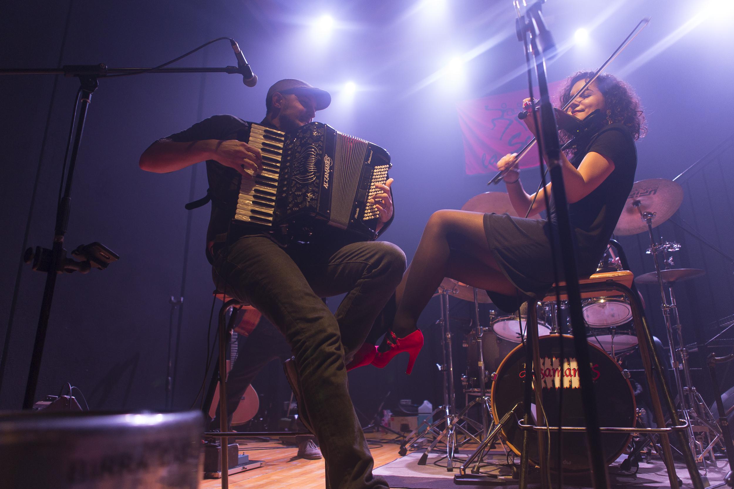 Foto di concerto per Alzamantes band