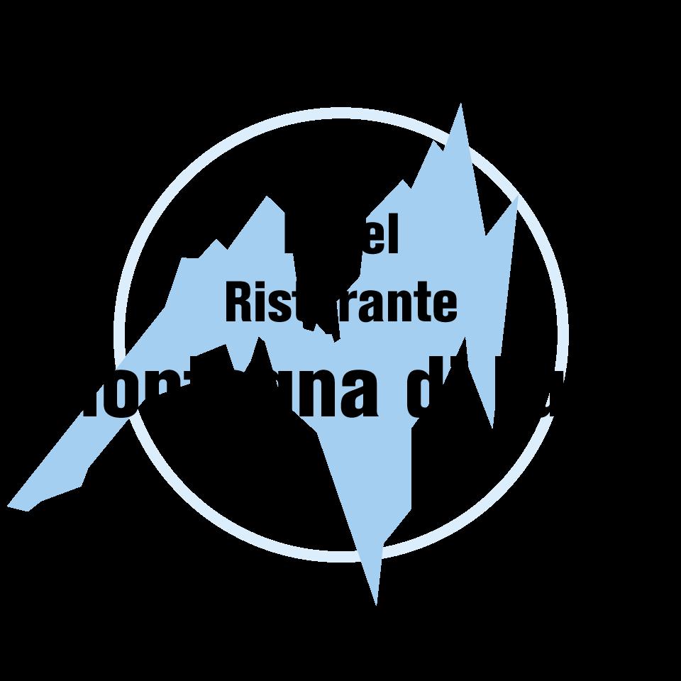 Progettazione logo Montagna di Luce bianco