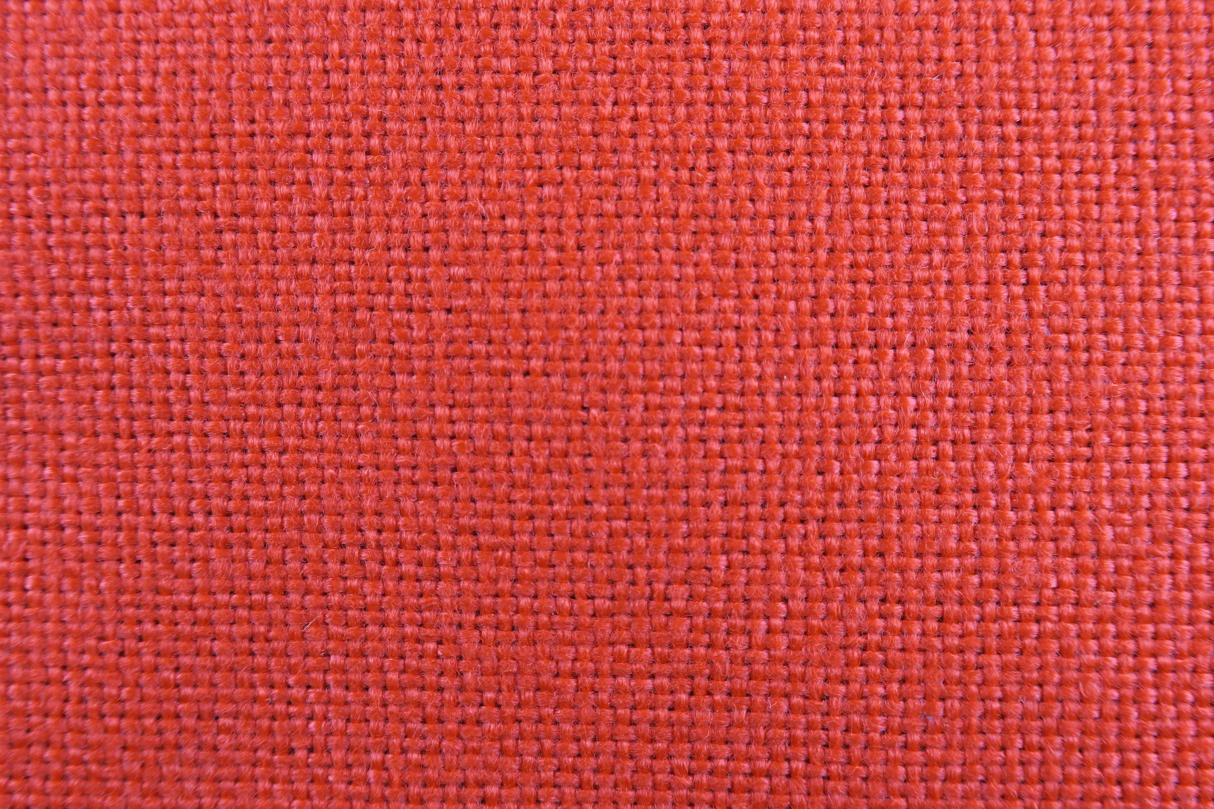 Foto macro tessuto rosso