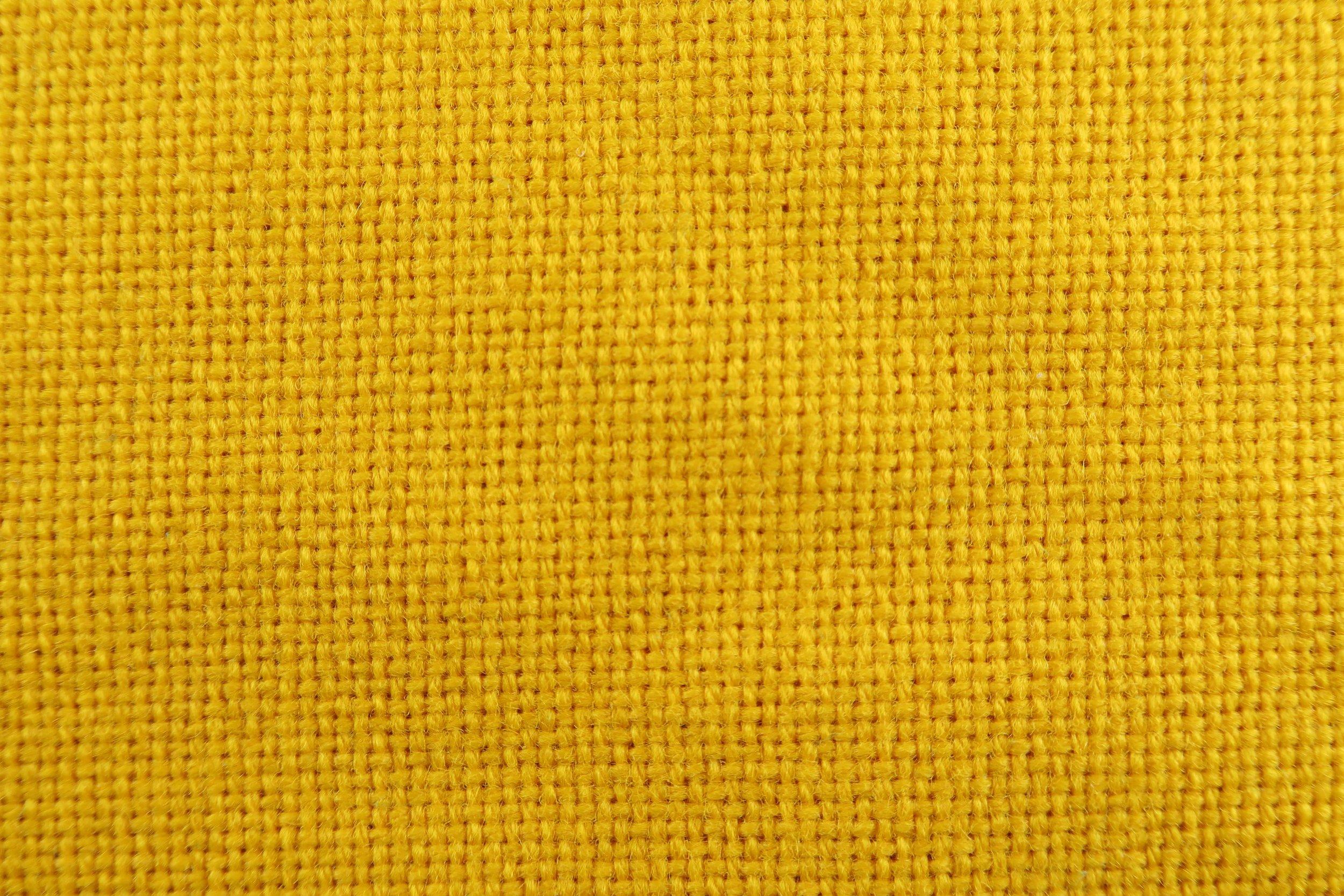 Foto macro tessuto giallo