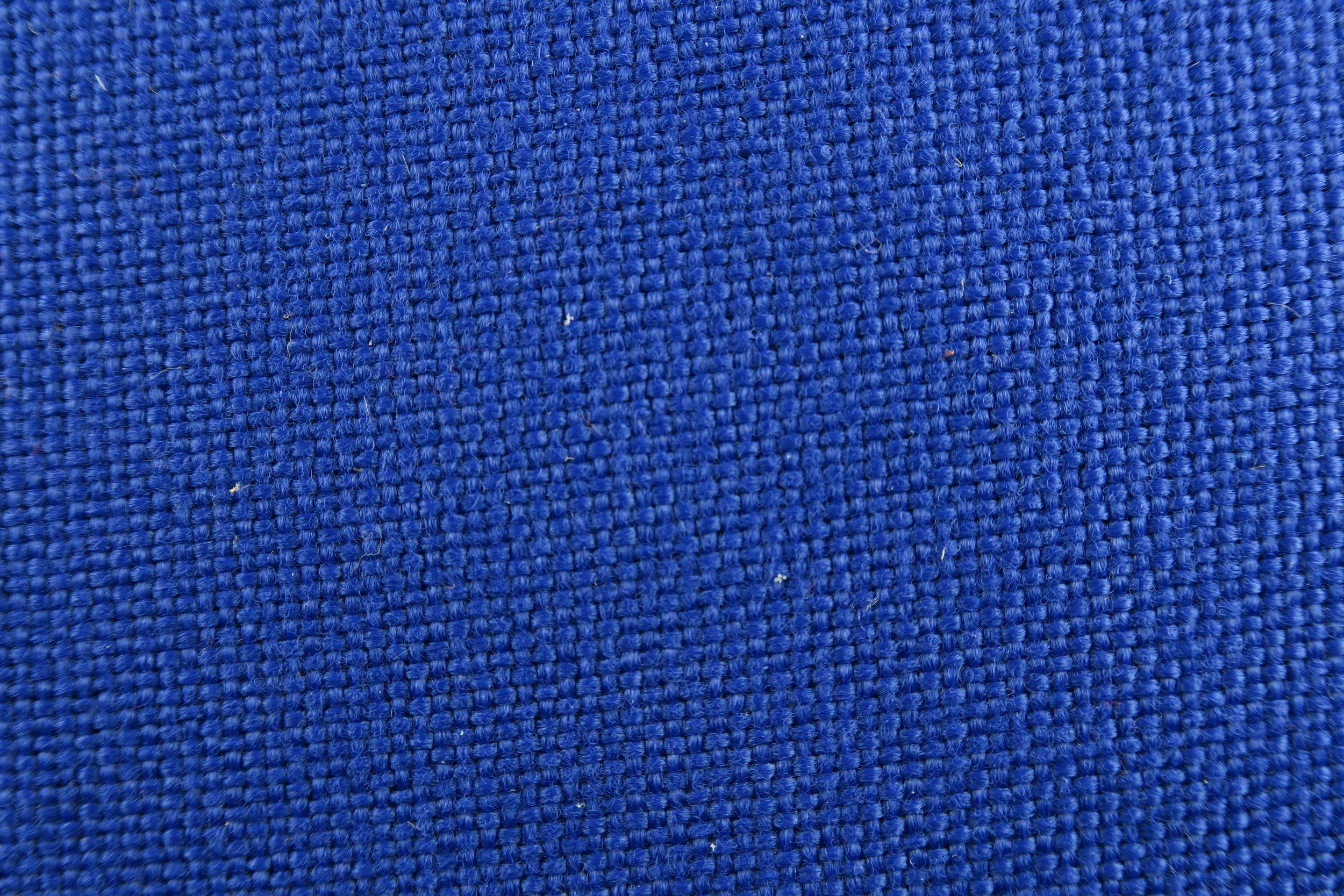 Foto macro tessuto blu