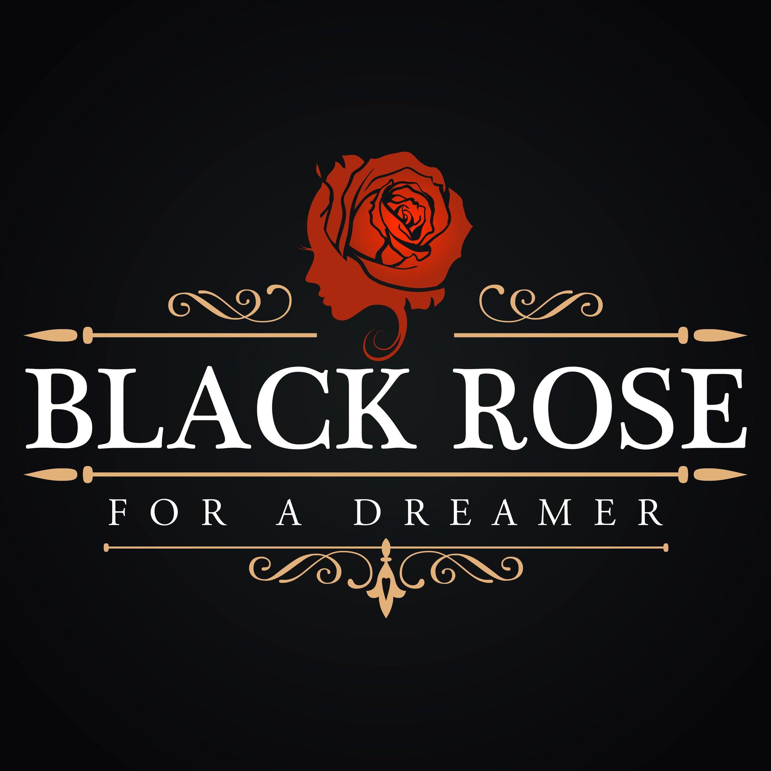 Logo black rose design grafica milano