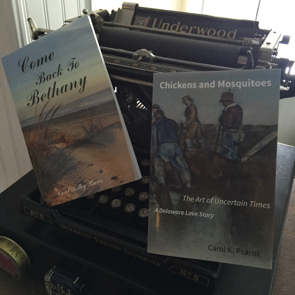 Two novels by Carol Psaros: Come Back To Bethany and Chickens & Mosquitoes