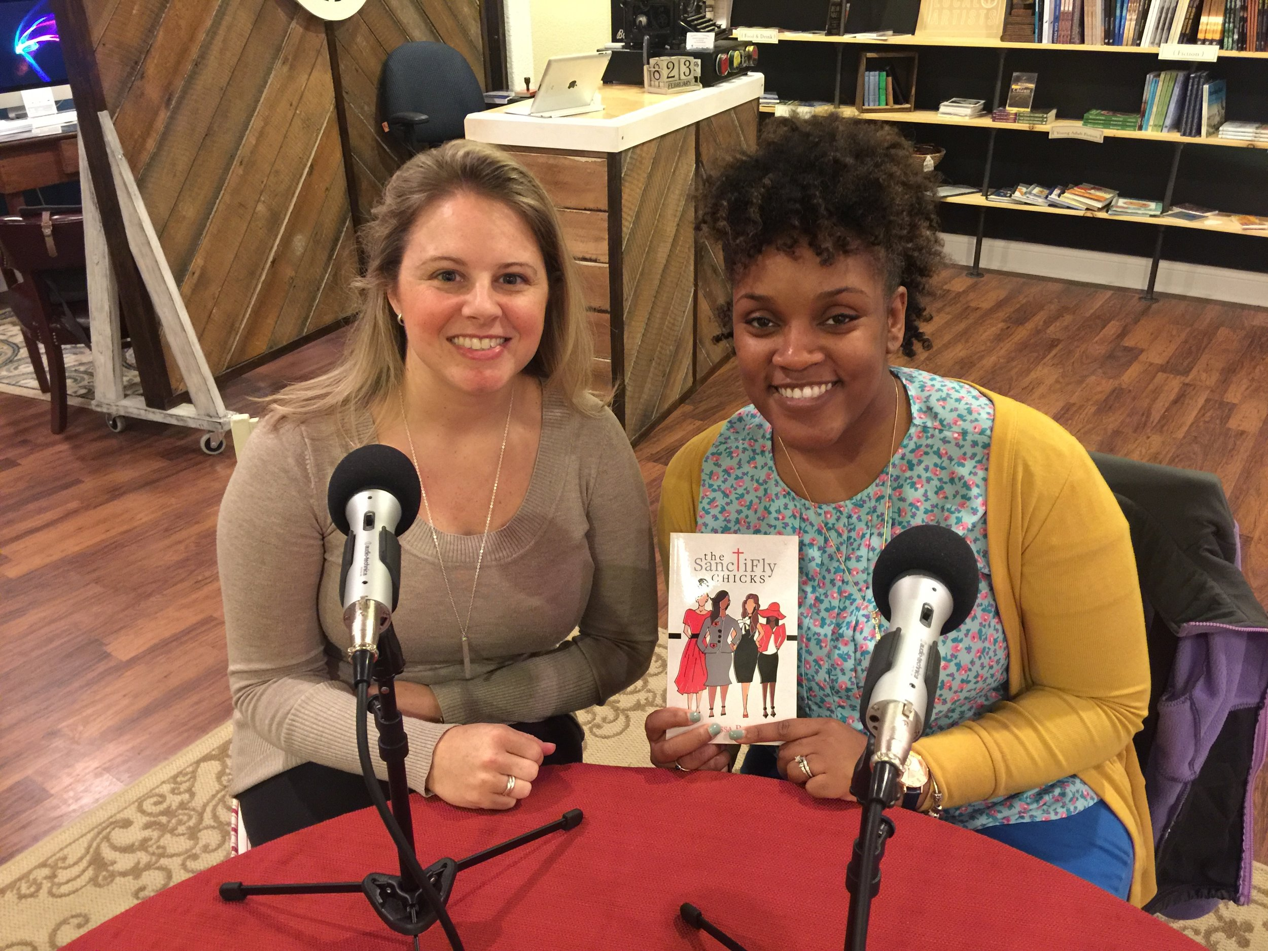 Stephanie and Alyssa Banks after the podcast.