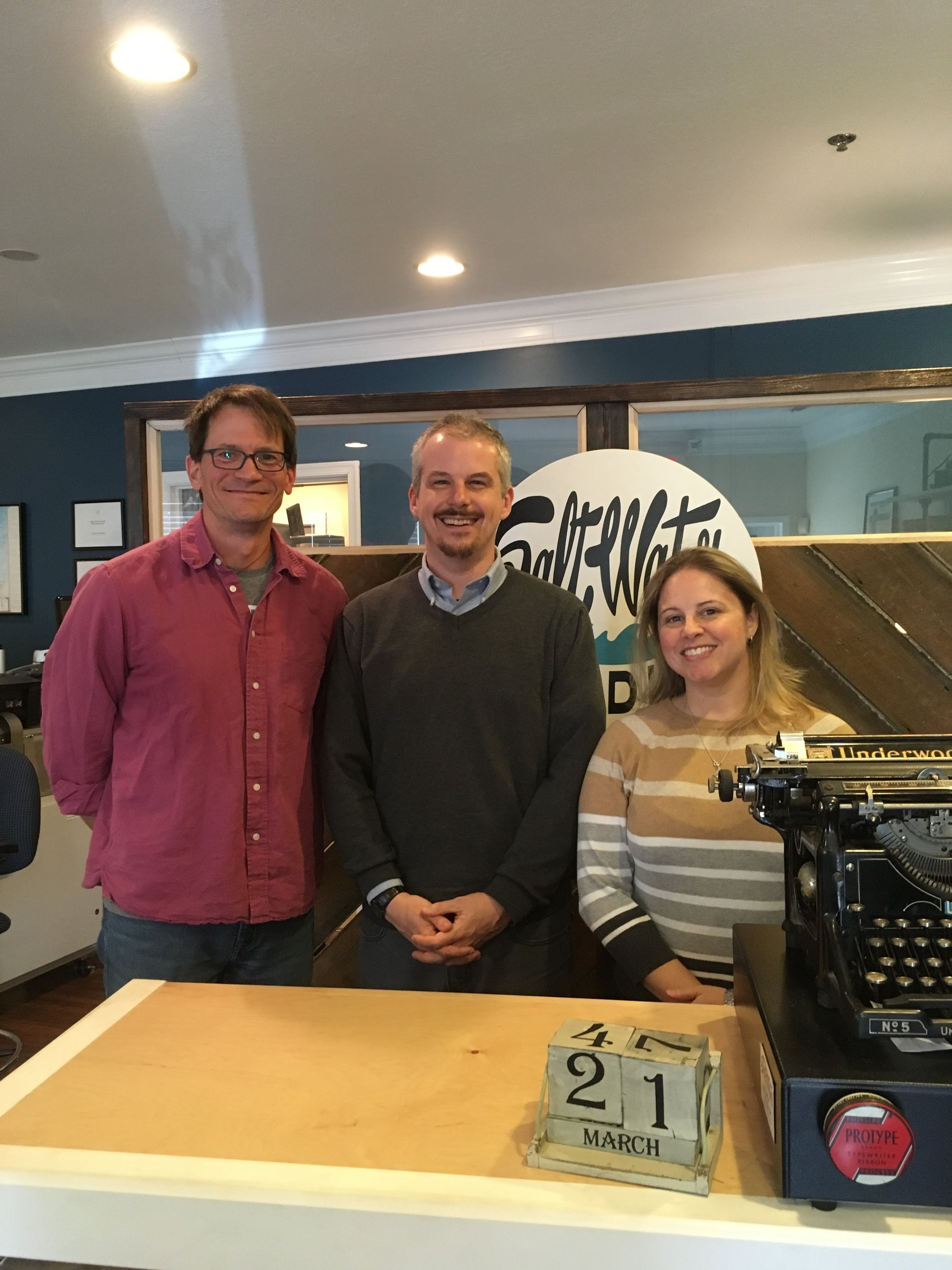 Guest co-host Jeff Smith, acclaimed poet James Arthur, and total nerd Stephanie Fowler
