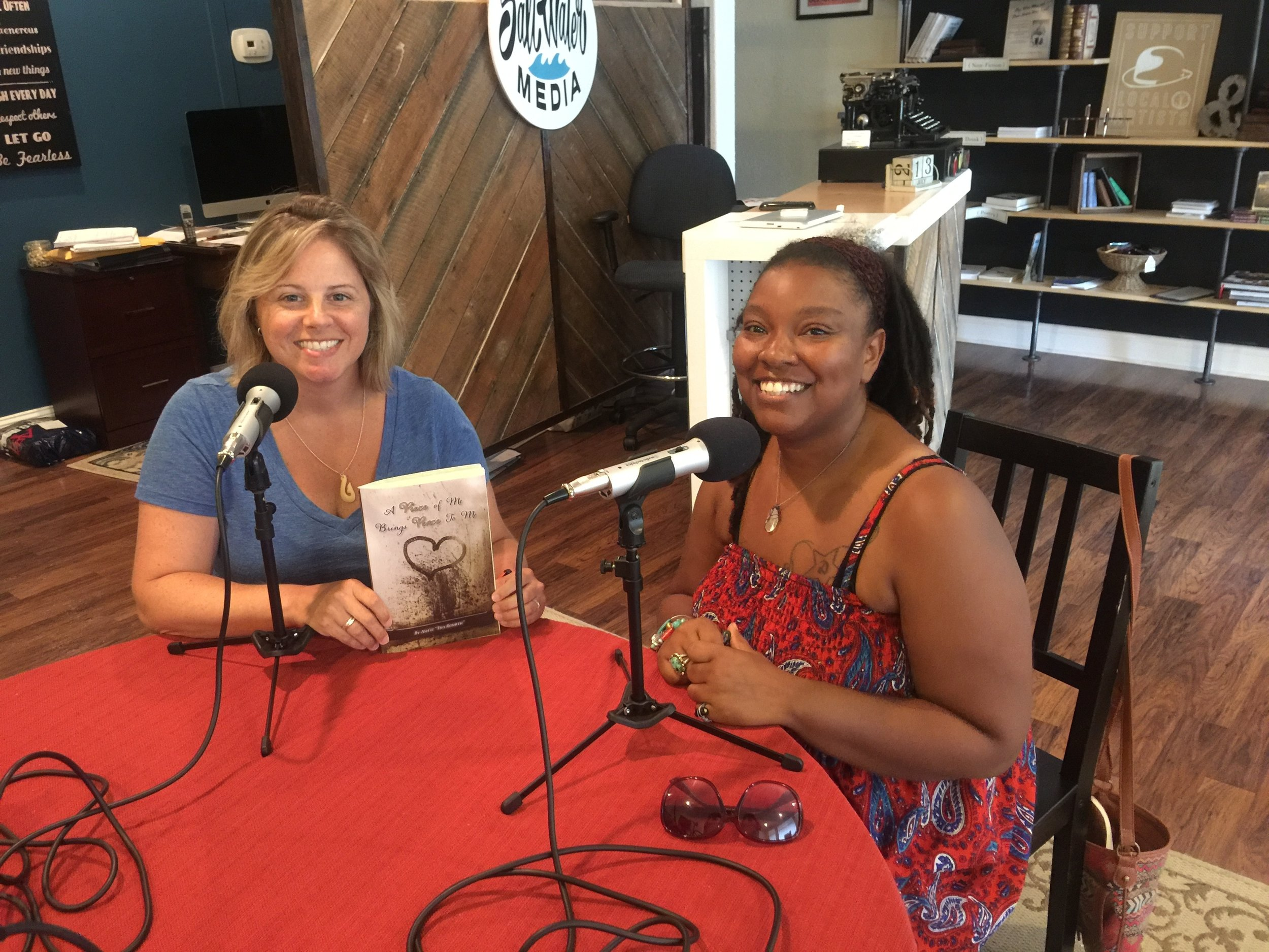 Stephanie and Ashley post podcast