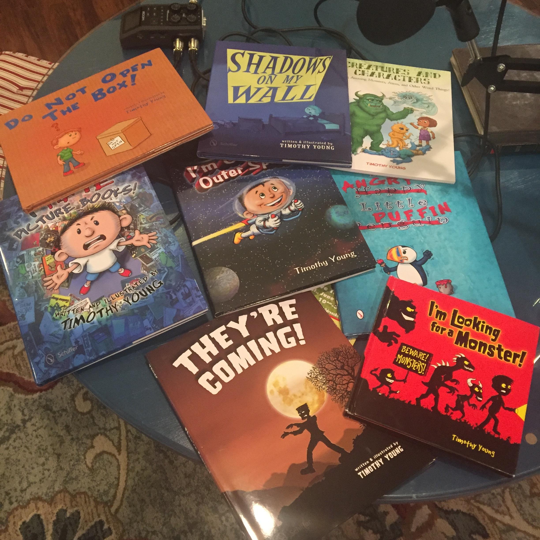 Just a few of Tim's books!