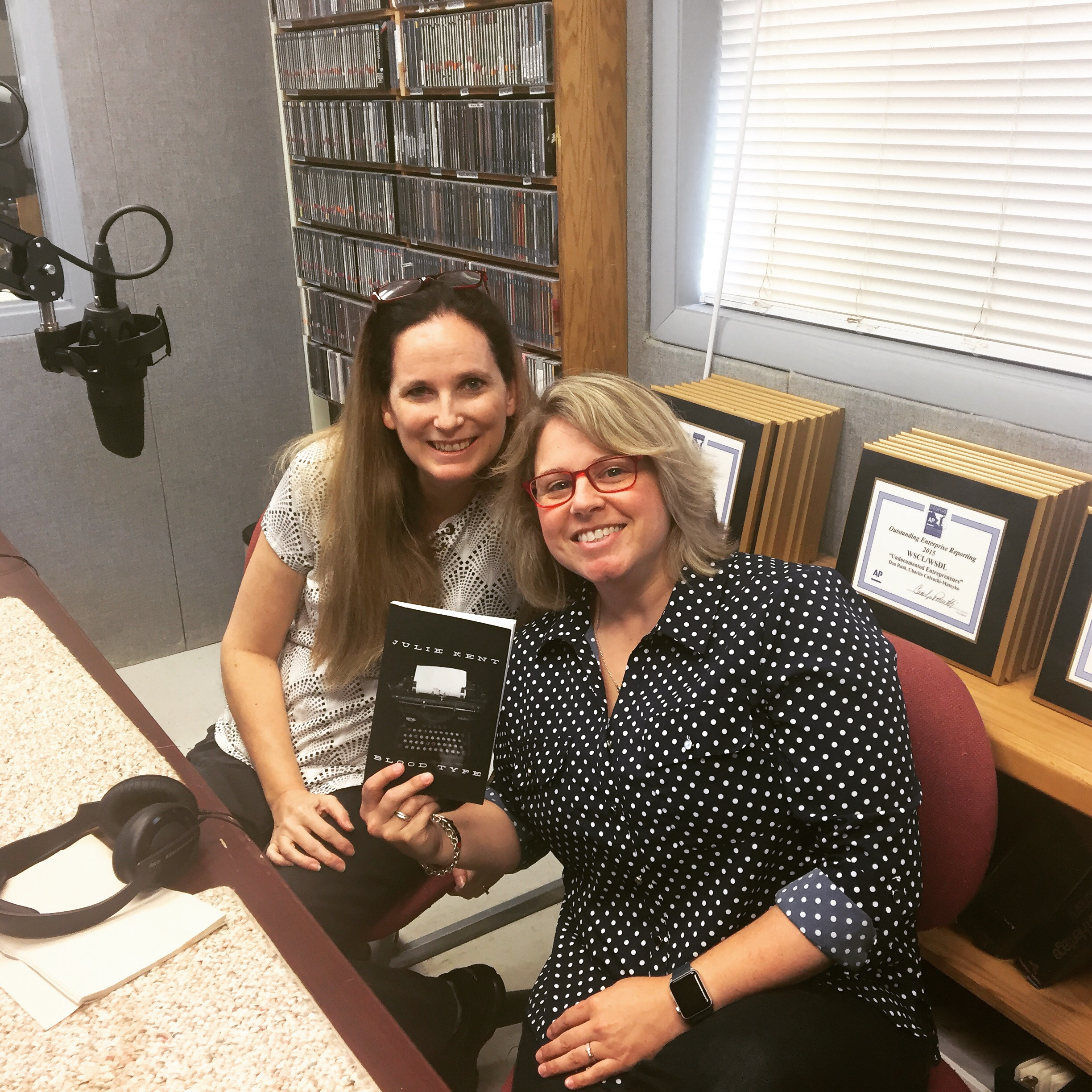 Julie Kent and Stephanie - post podcast which was recorded at Delmarva Public Radio!