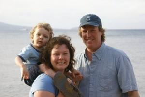 Our growing family in Maui, 2009