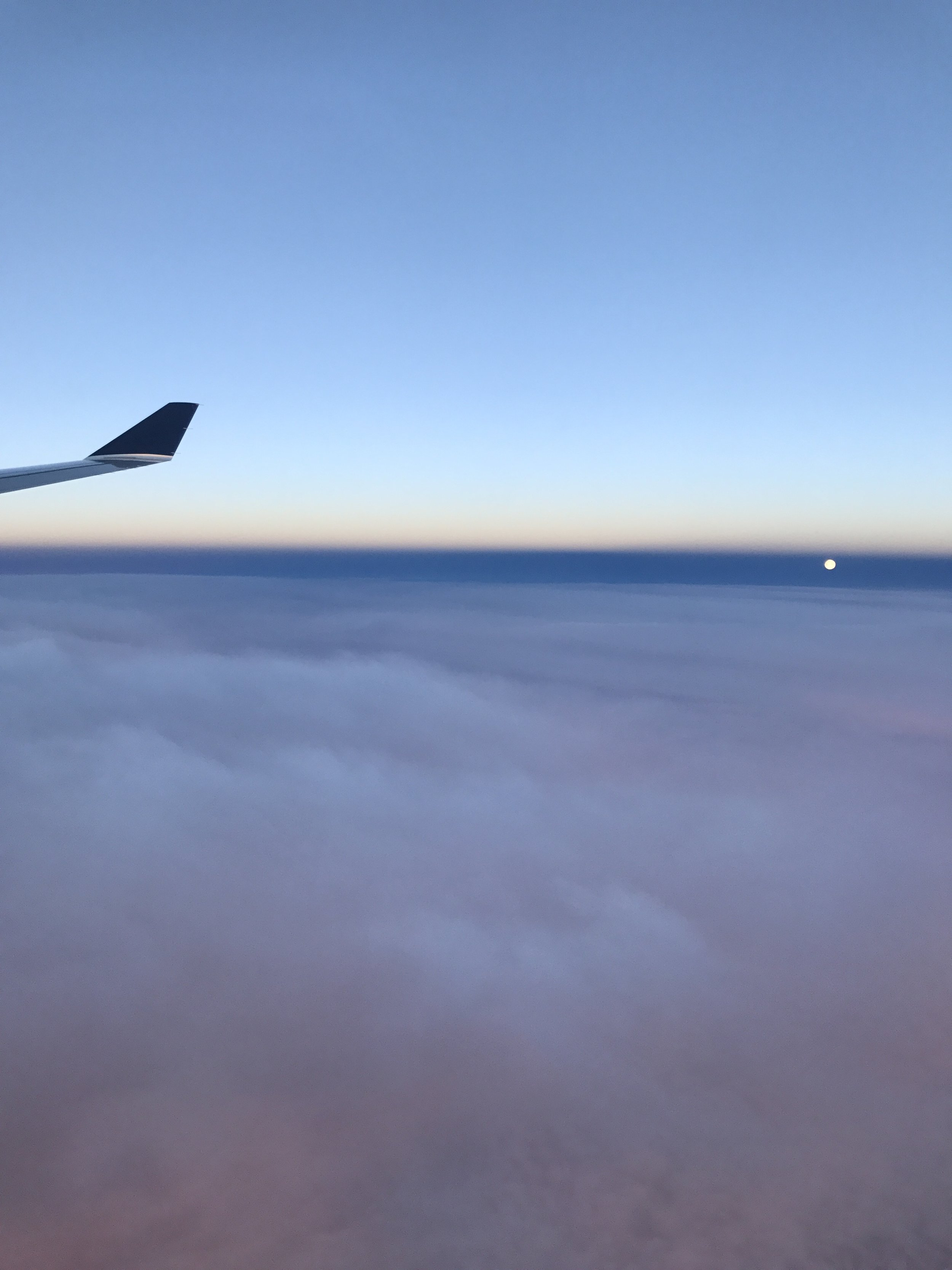 The moon went full at 8 am Paris time, just as we landed.