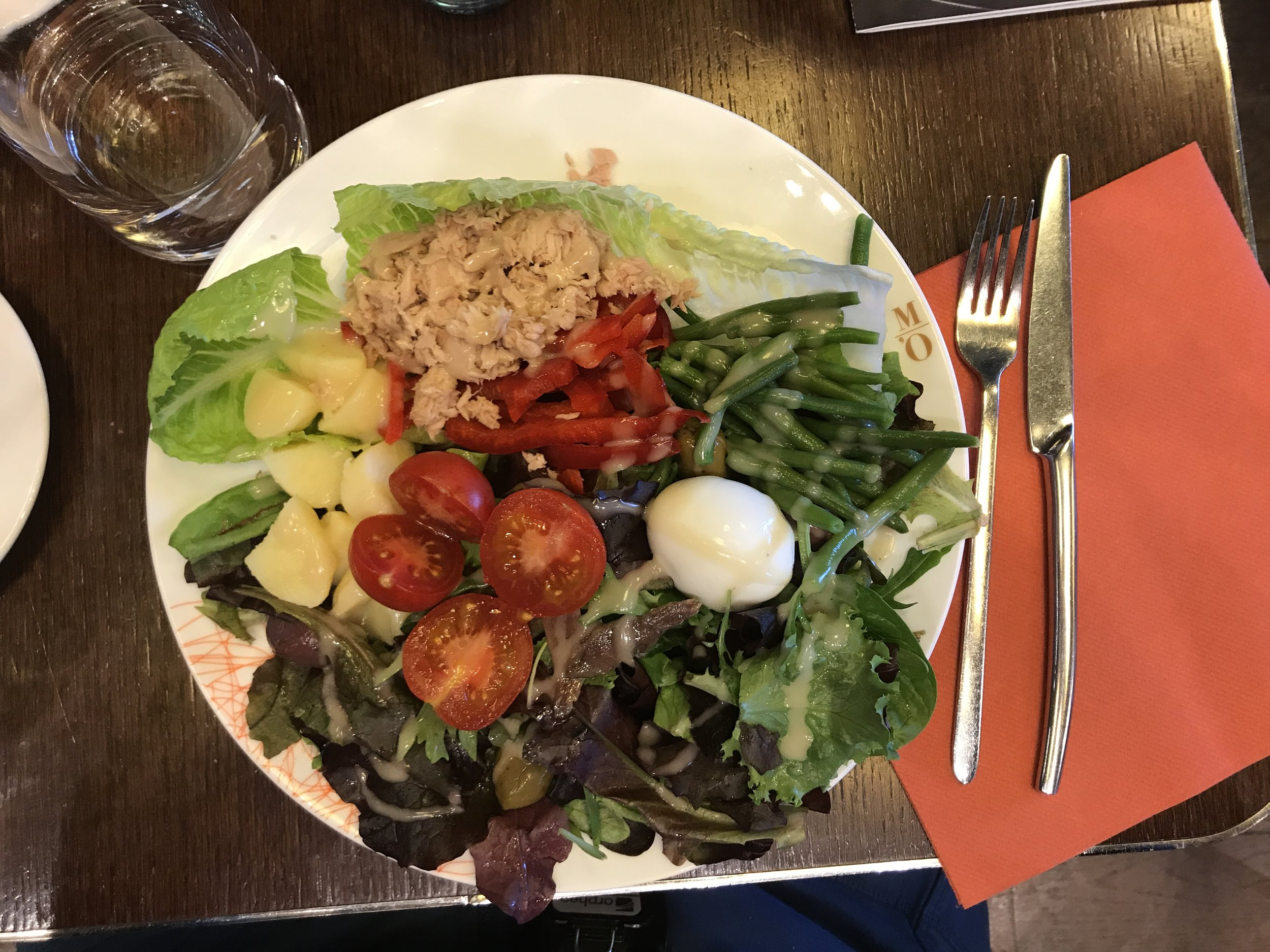 At the cafe at Musee D'Orsay, we overheard a couple have a room-silencing blow-out, then empathized over this beauty of an authentic Salade a la Niçoise.