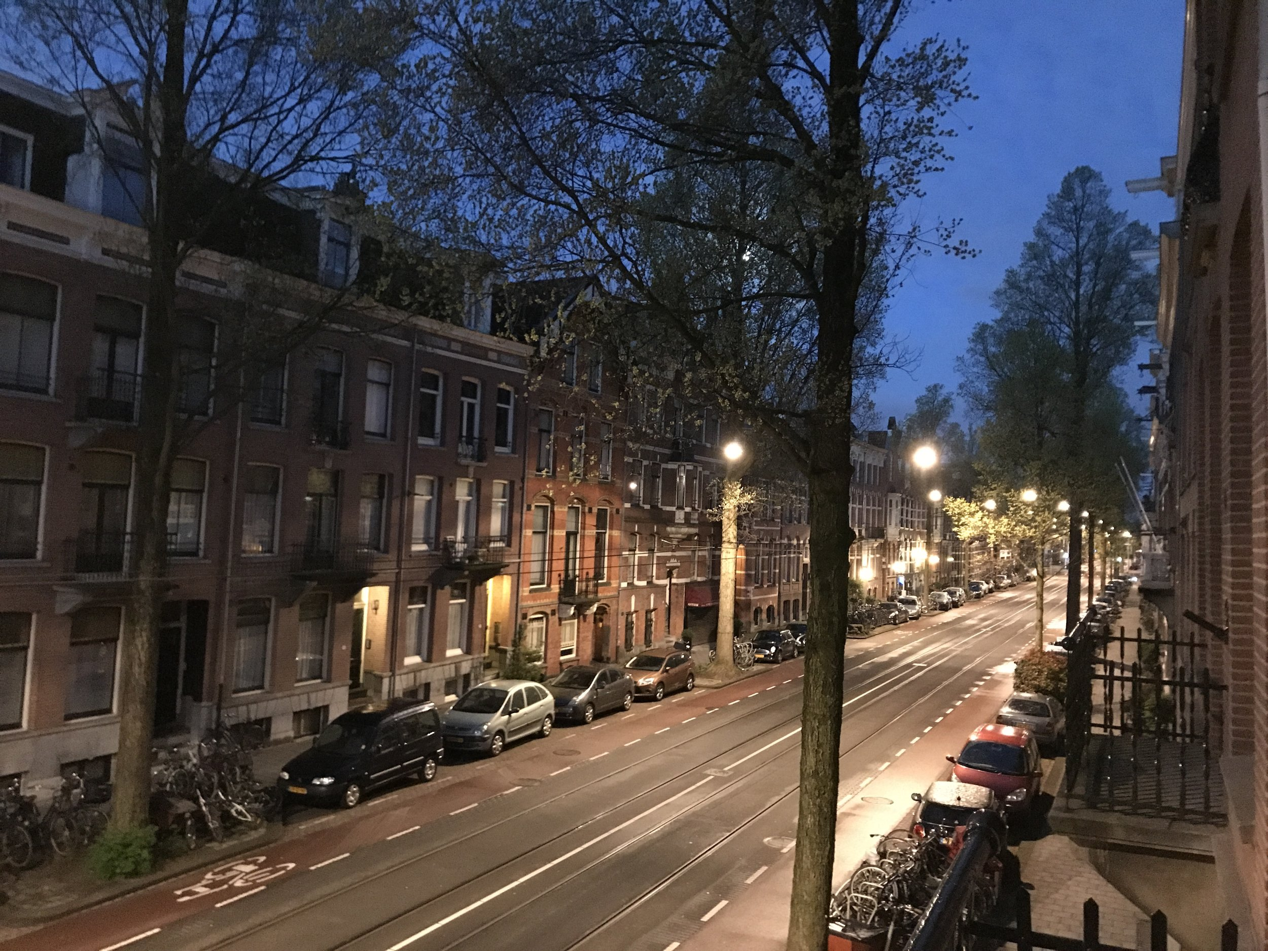 "When you crash at 9, you may just find that you're, ""BLINK!"" wide awake at 5.  But the parkweg is so quiet and lovely before dawn..."