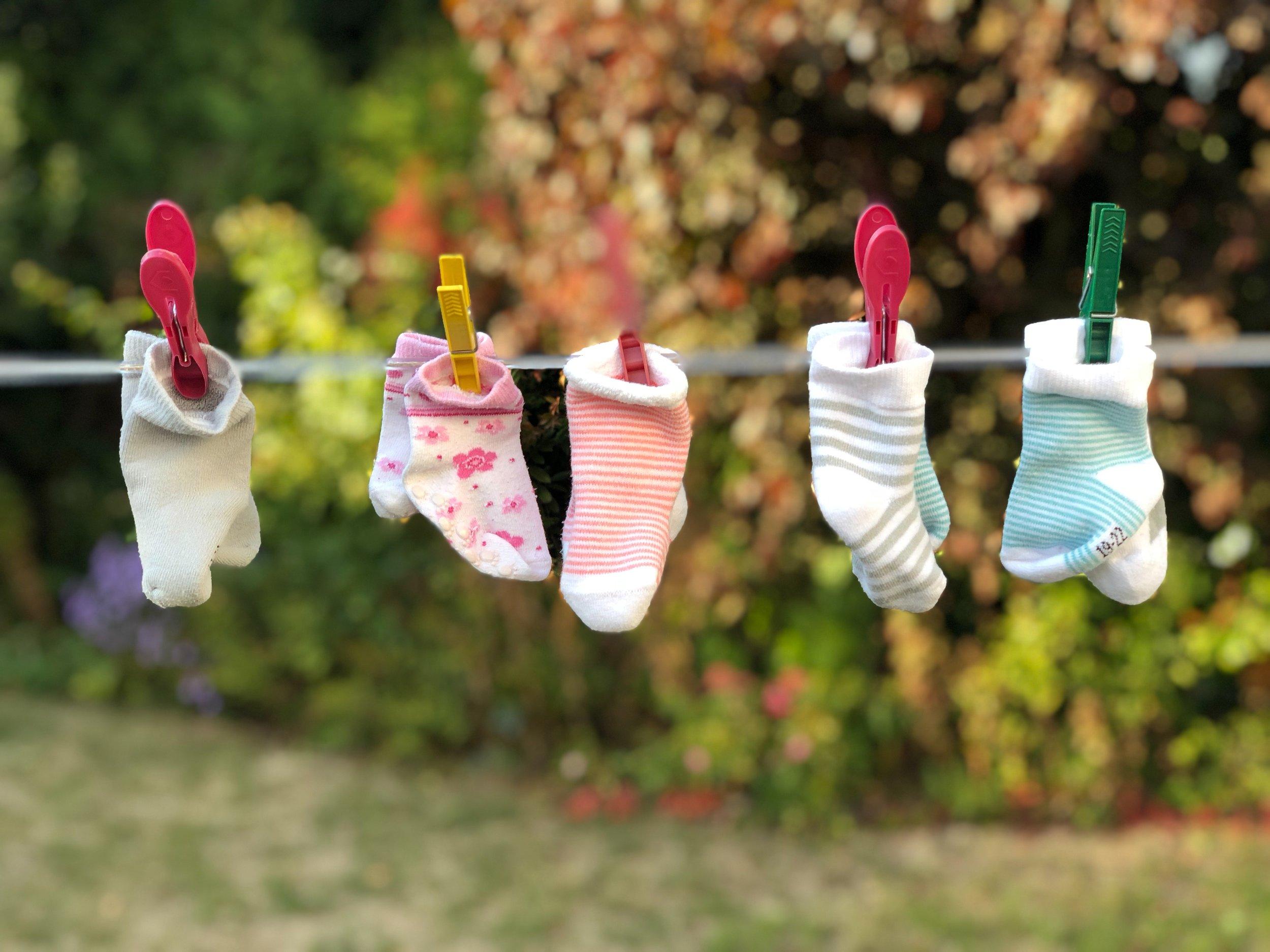Go home with lost socks! Photo credit: Christian Fickinger on unsplash