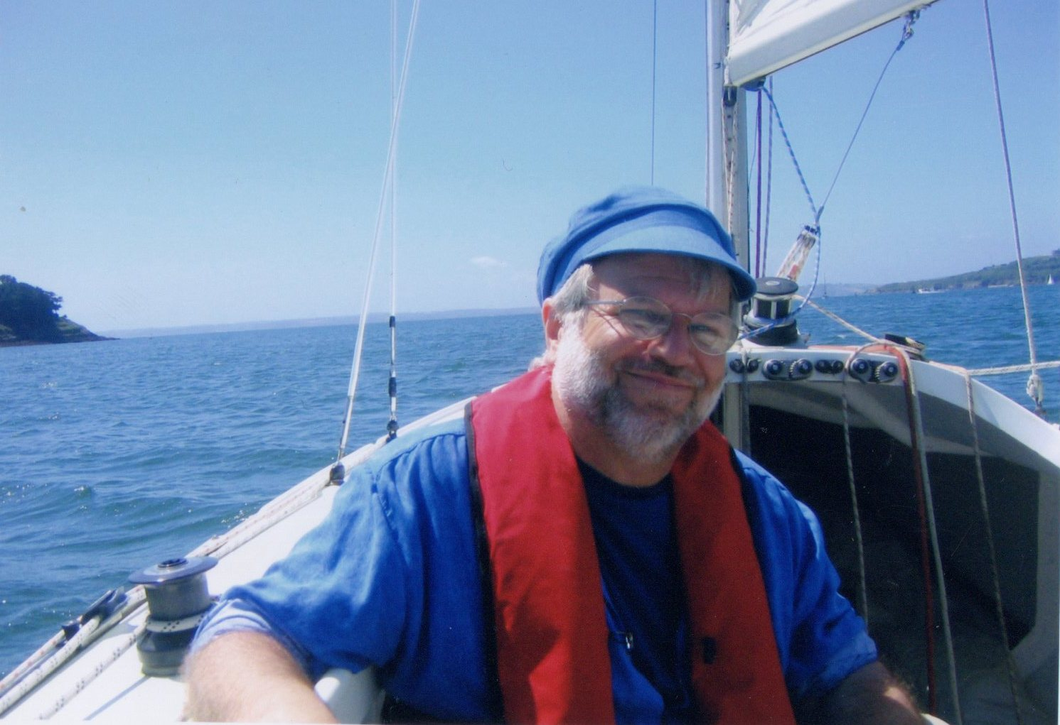 Composer & Captain of the Keyboard pretending to be Captain of the seas, Robin Jones