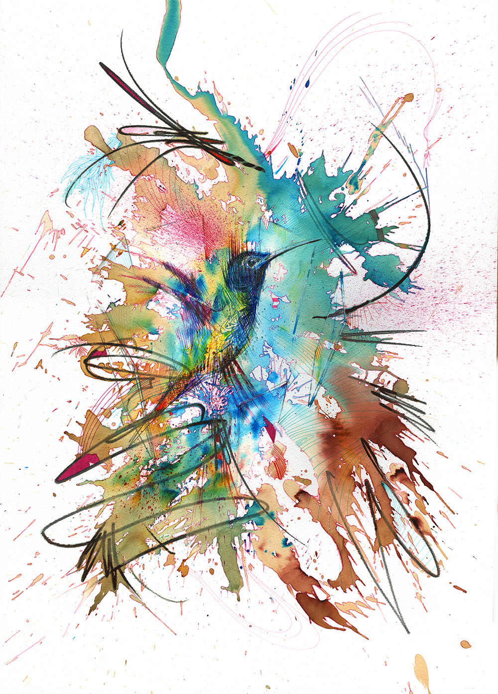 Perfectly Still by Carne Griffiths | Featured Artist The Bird Garden