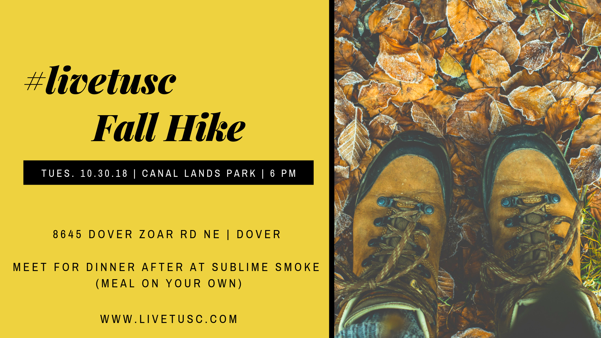 fall hike #livetusc facebook event cover.png