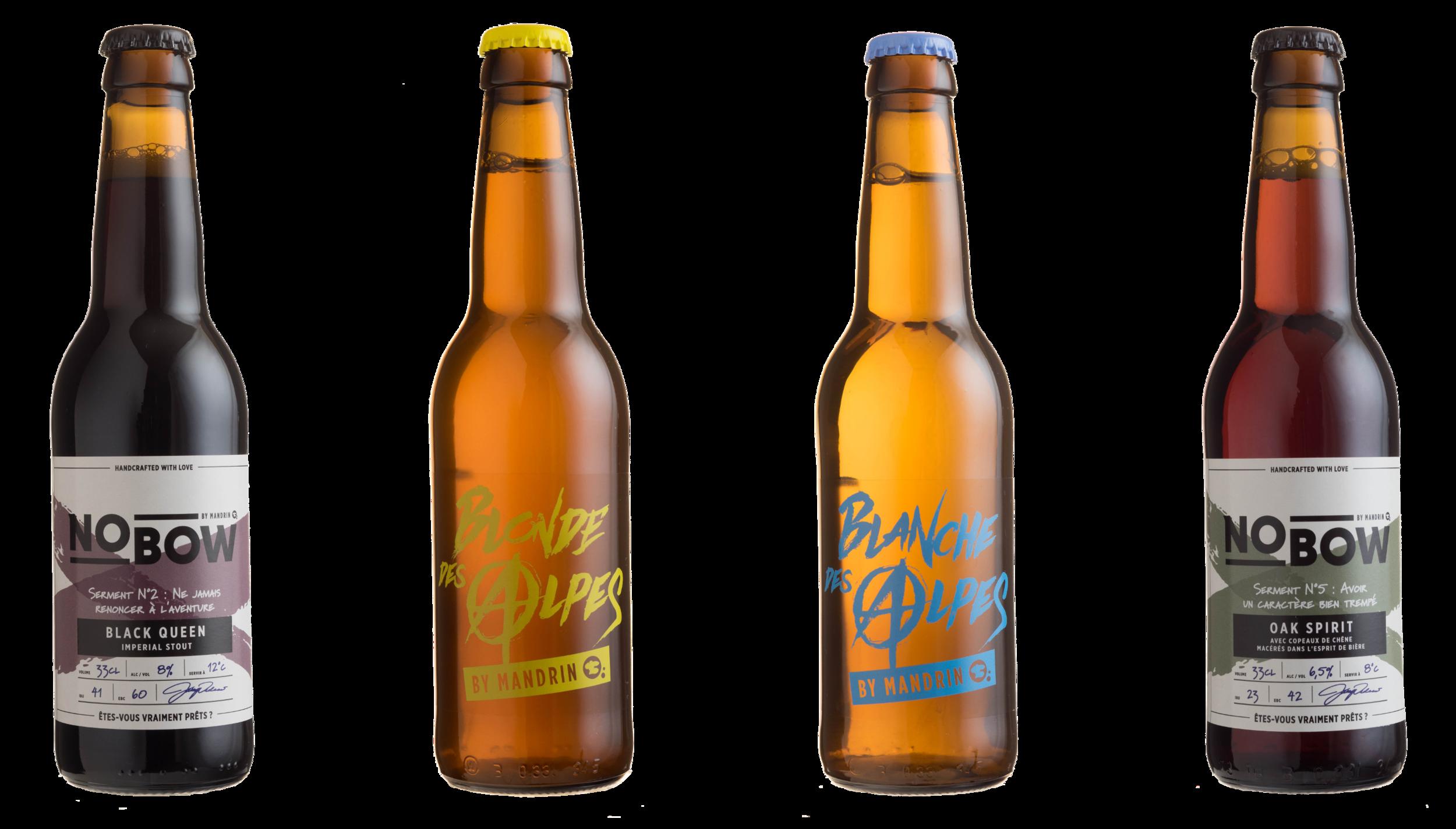 Séries Bières des Alpes et Nobow - Brasserie du Dauphiné