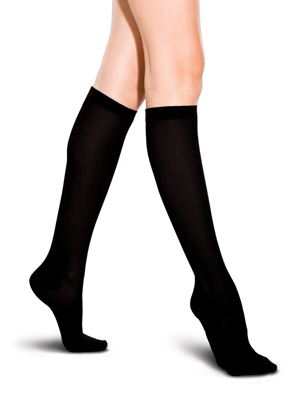 preggers-ribbed-trouser-sock-black