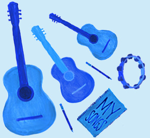 Illustration of musical instruments