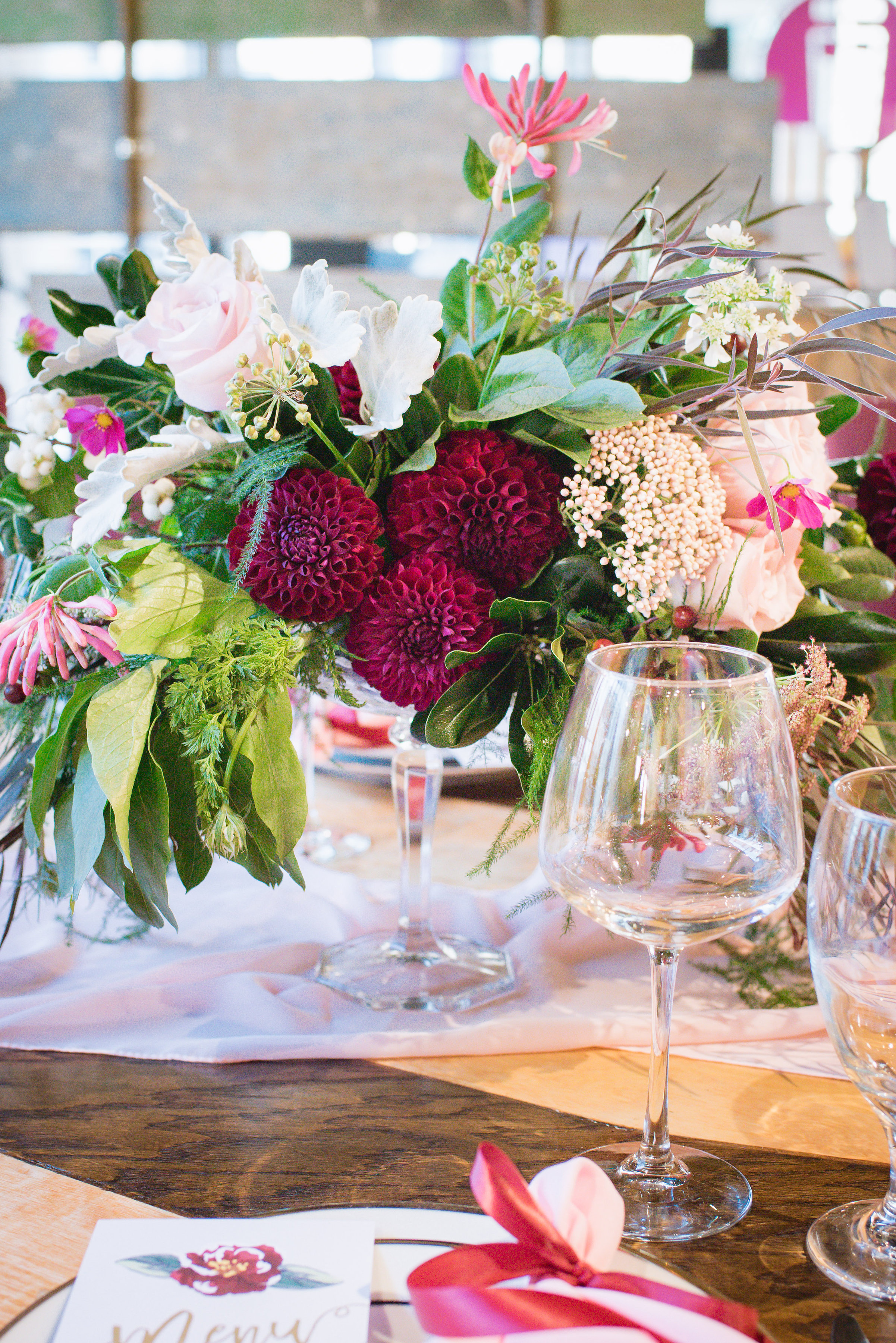 Blush & Burgundy Wedding Ideas Perfect for a Wine Bar Soiree