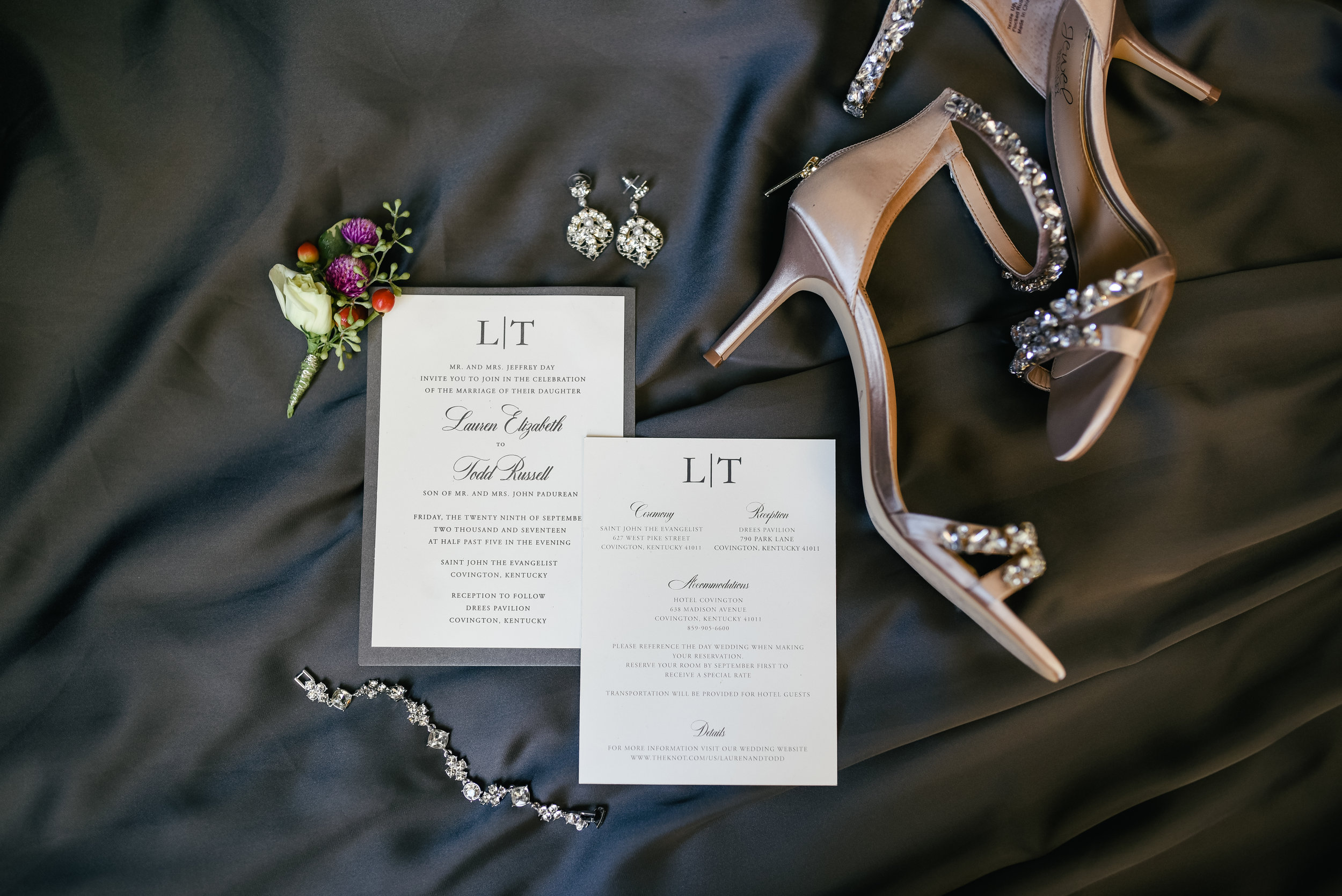 Lauren and Todd's Wedding in Covington Kentucky with Event Coordination by Event Prep
