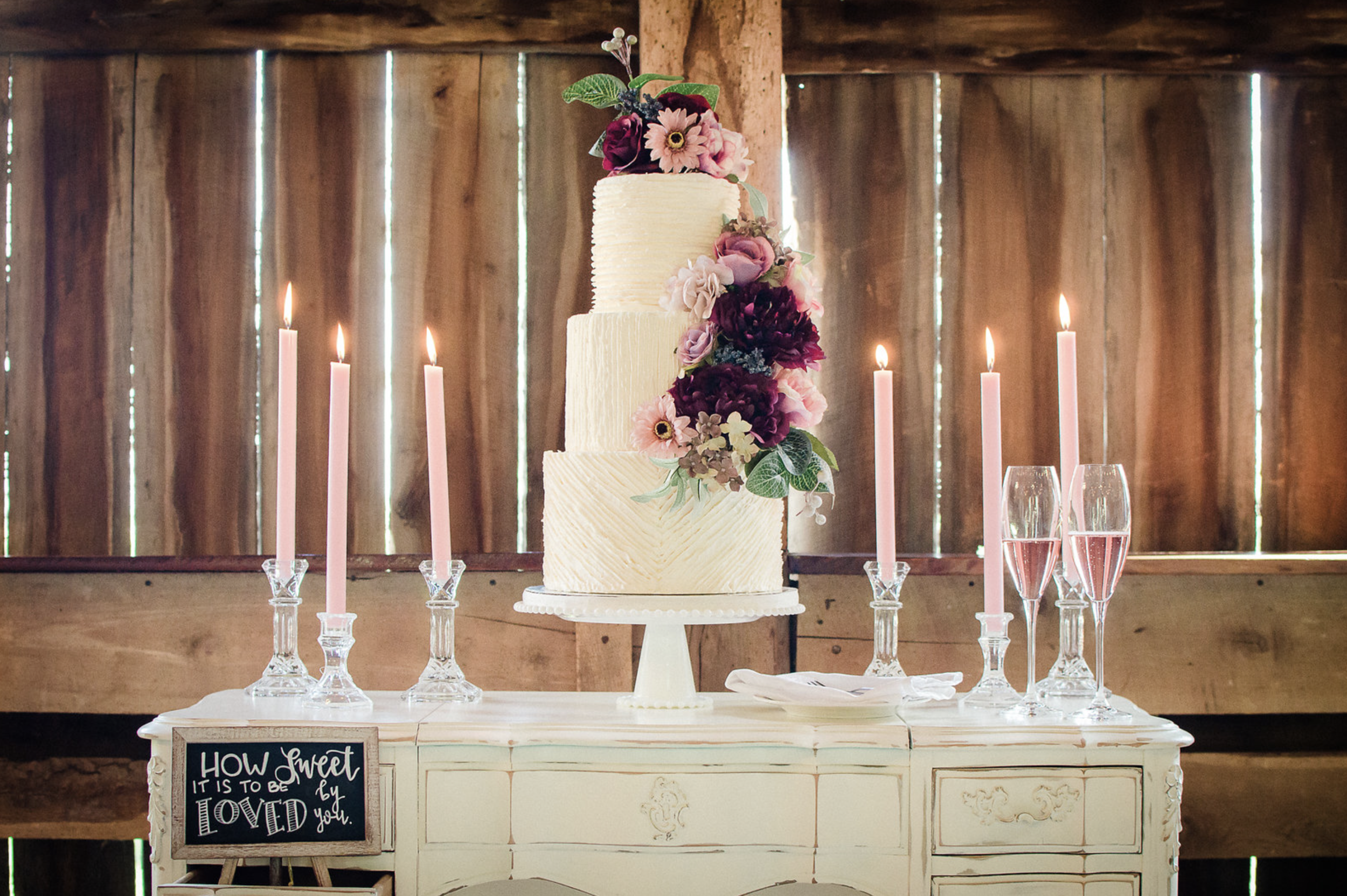 Rustic & Feminine Wedding Inspiration at Parson's Farm Styled by Event Prep Photographed by Love is Greater