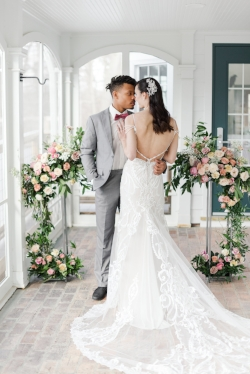 Bethany and Matthew - Romantic & Feminine Wedding Inspiration in Toledo, Ohio with Photography by Amanda Collins Styling by Event Prep