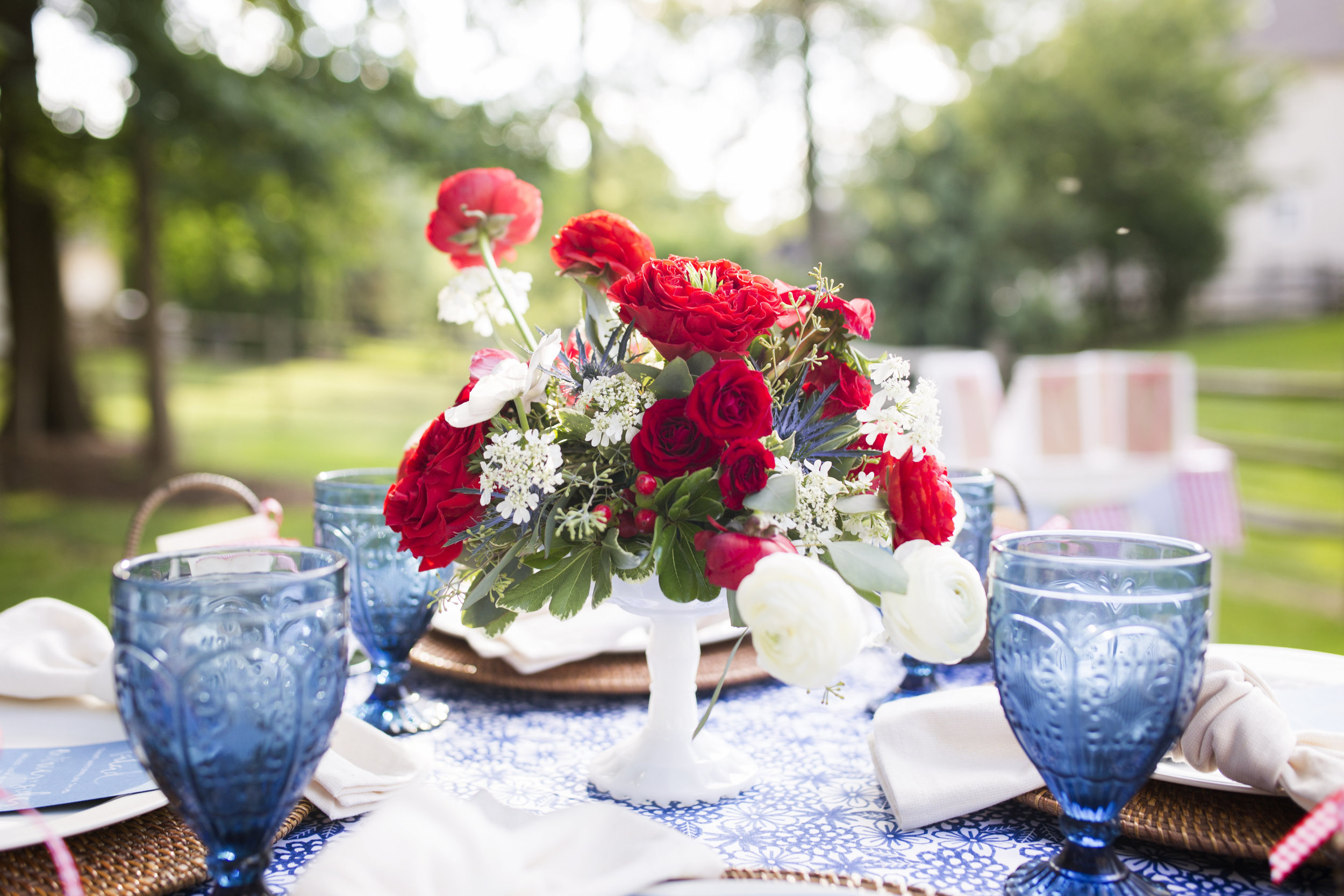A Charming Backyard Fourth of July Party Styled by Cassandra Clair of Event Prep