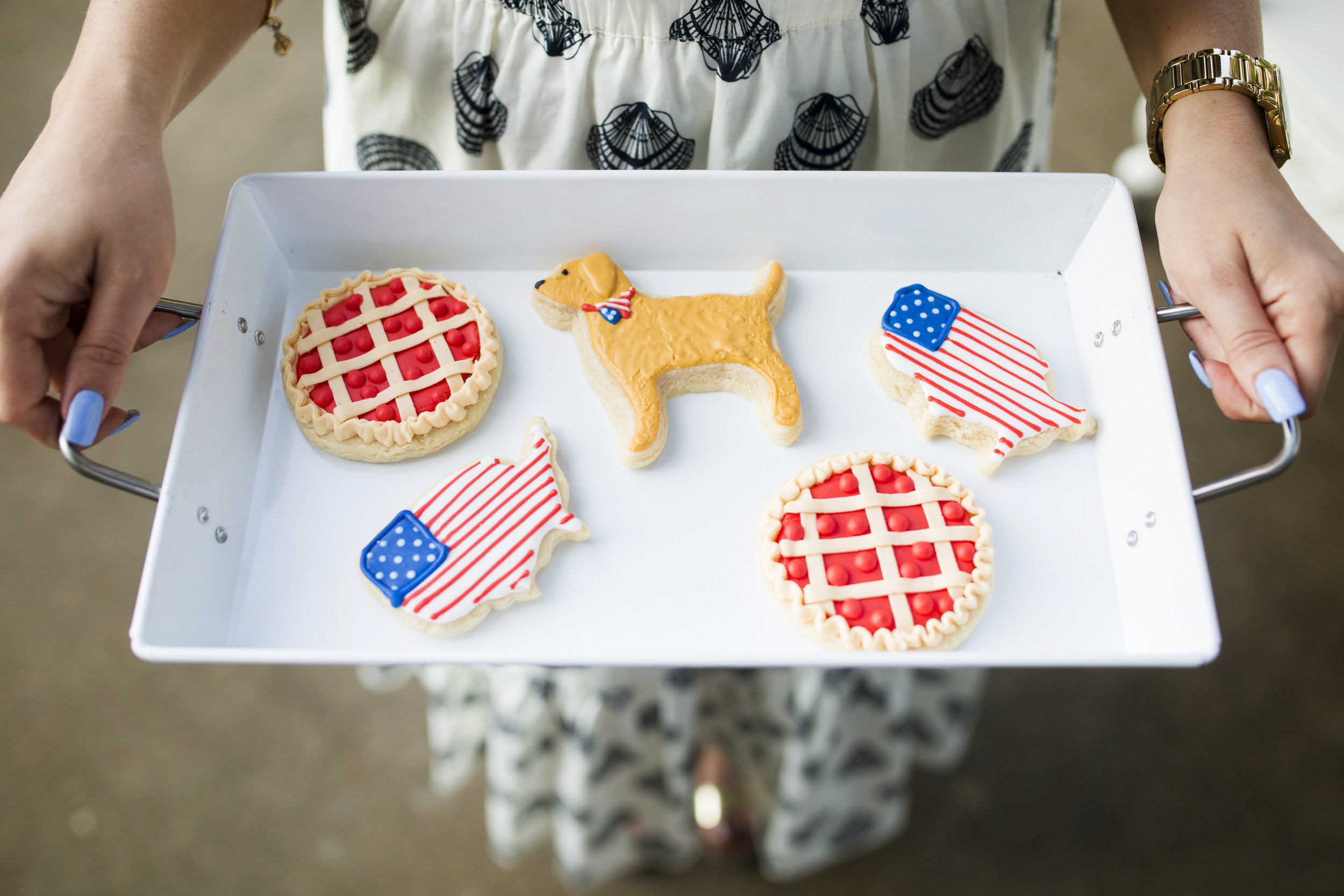 Host a Stylish Fourth of July Party with a Custom Dessert Display with ideas by Cassandra Clair of Event Prep