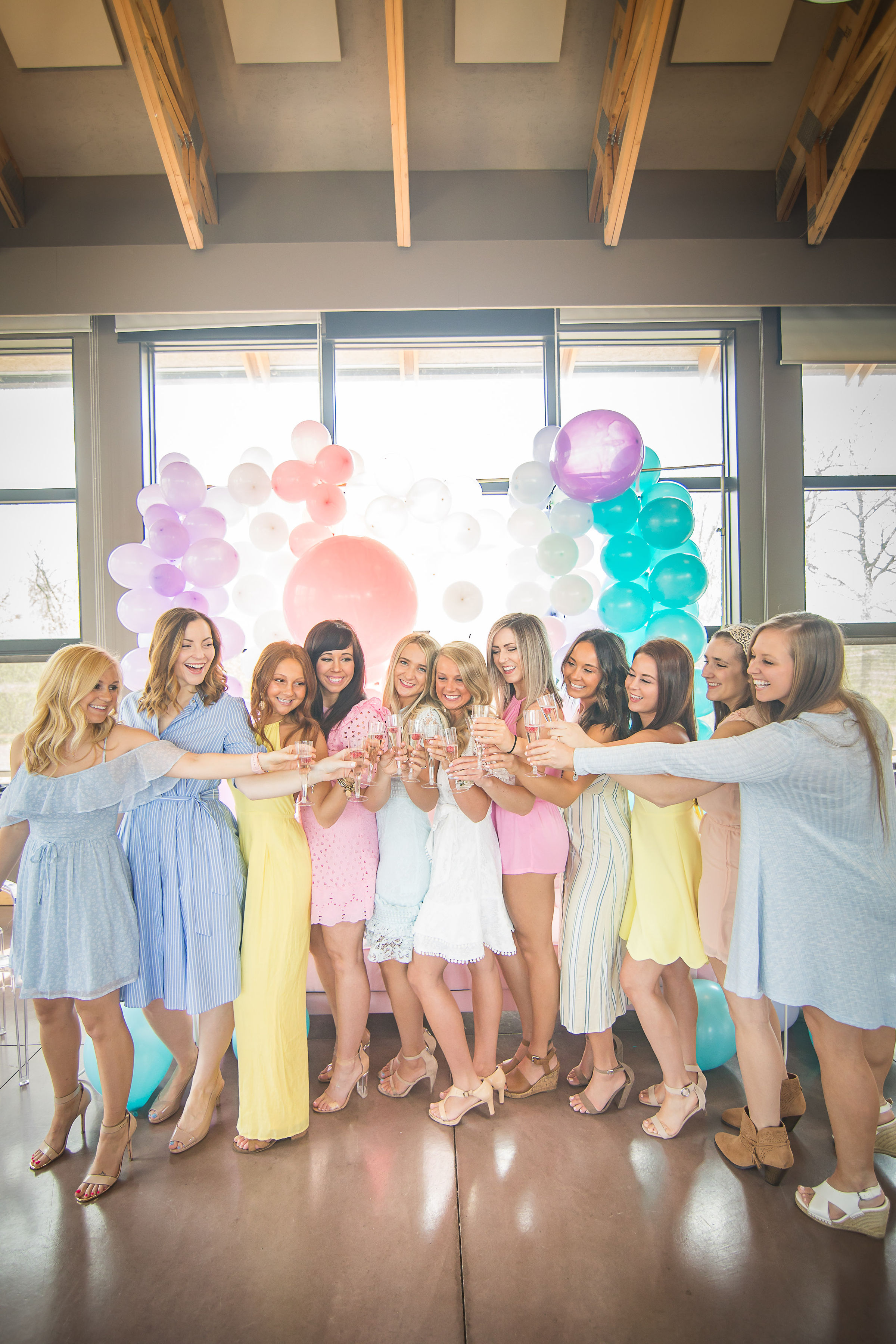 She's Been Scooped Up Bridal Shower with the most adorable DIY Balloon Wall